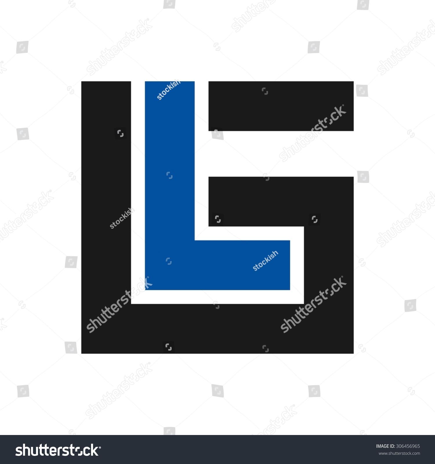 Logo Lg Letter L Letter G Stock Vector Royalty Free 306456965