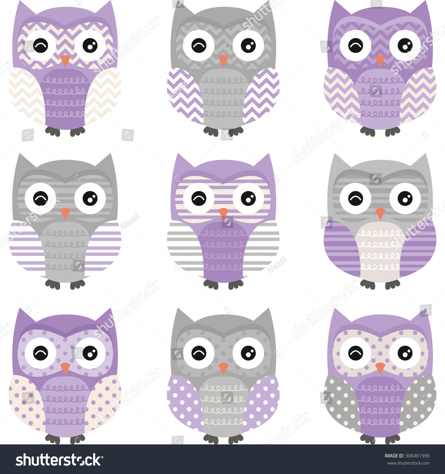 Chevron owl background
