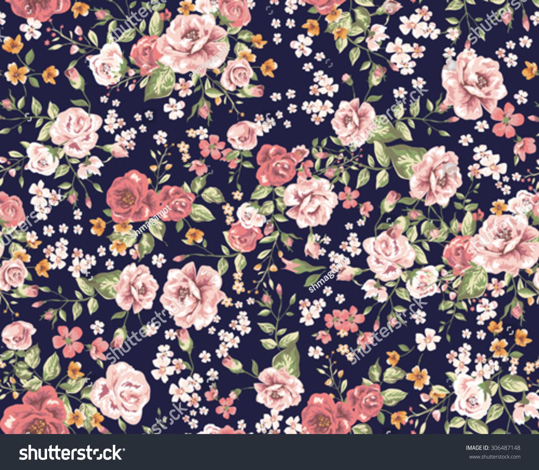 Vintage Floral Pattern Stock Photo 306487148