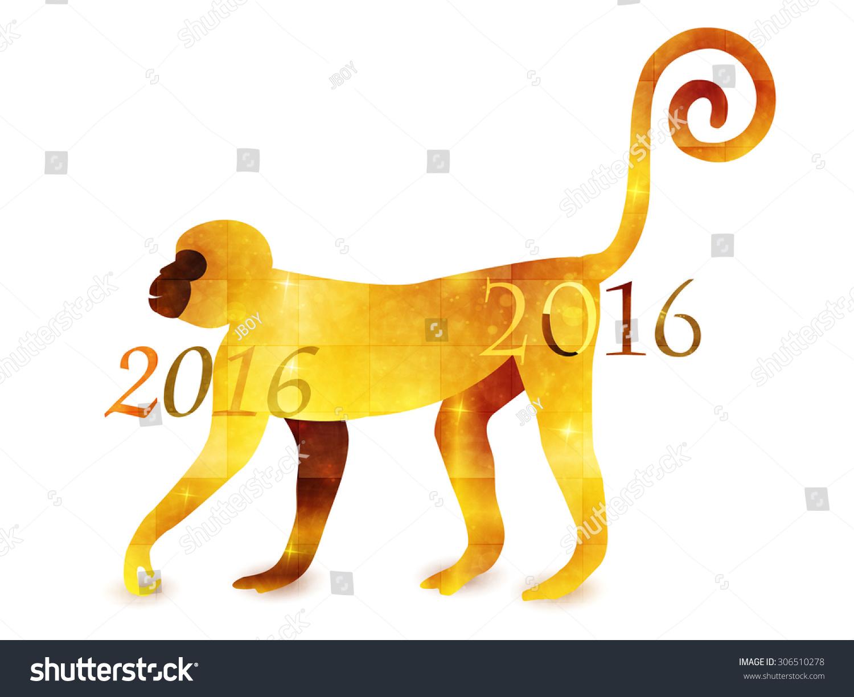 Monkey zodiac greeting cards stock vector 306510278 shutterstock monkey zodiac greeting cards m4hsunfo