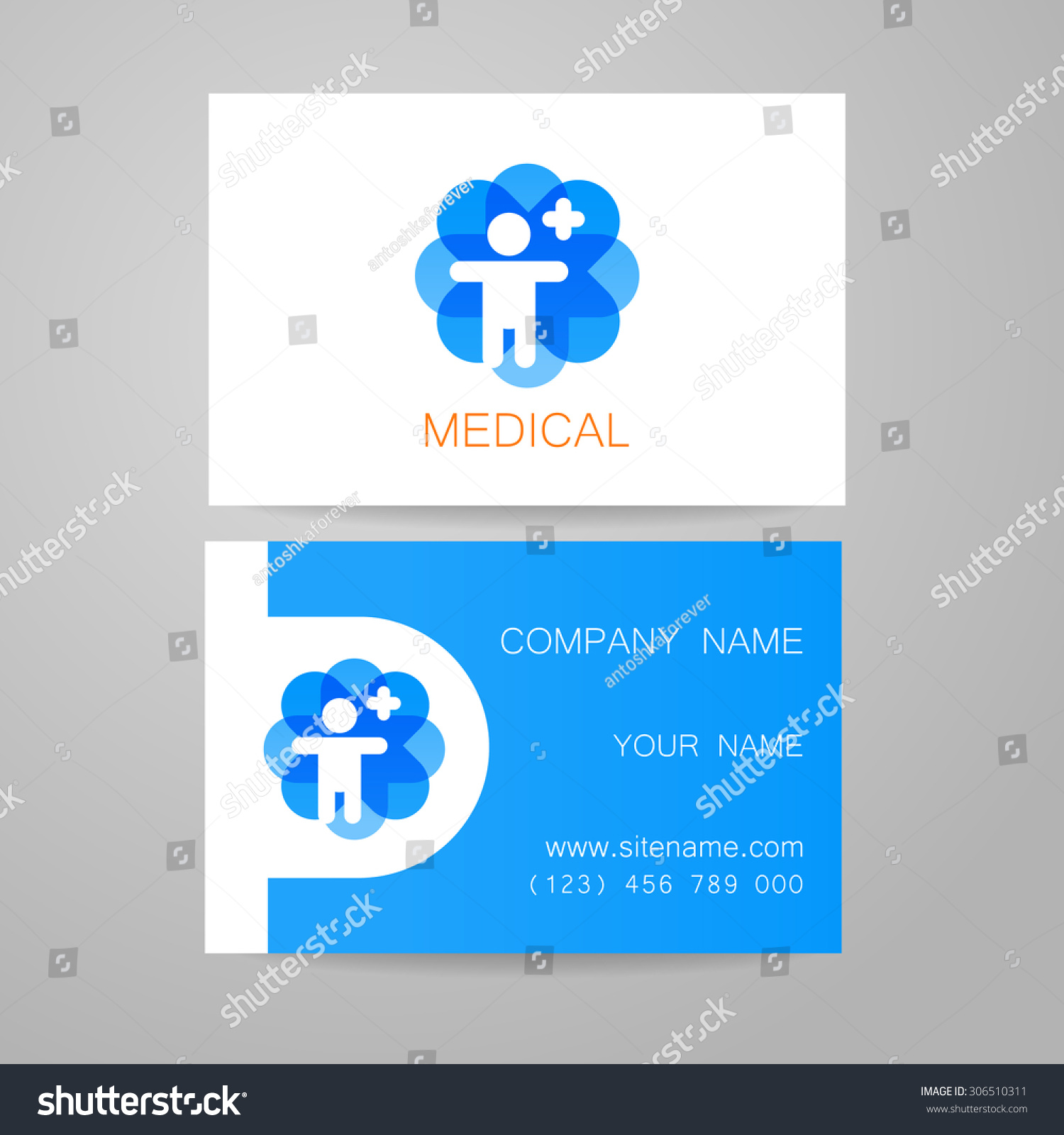 Template Medical Business Cards Stock Photo (Photo, Vector ...