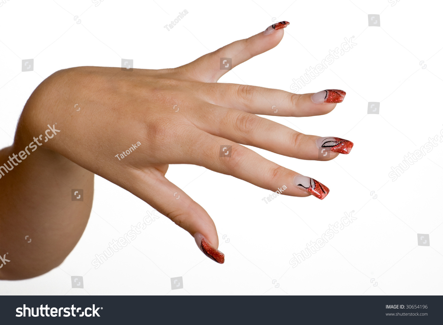 Manicured Female Hands Nice Nails Stock Photo (Edit Now)- Shutterstock