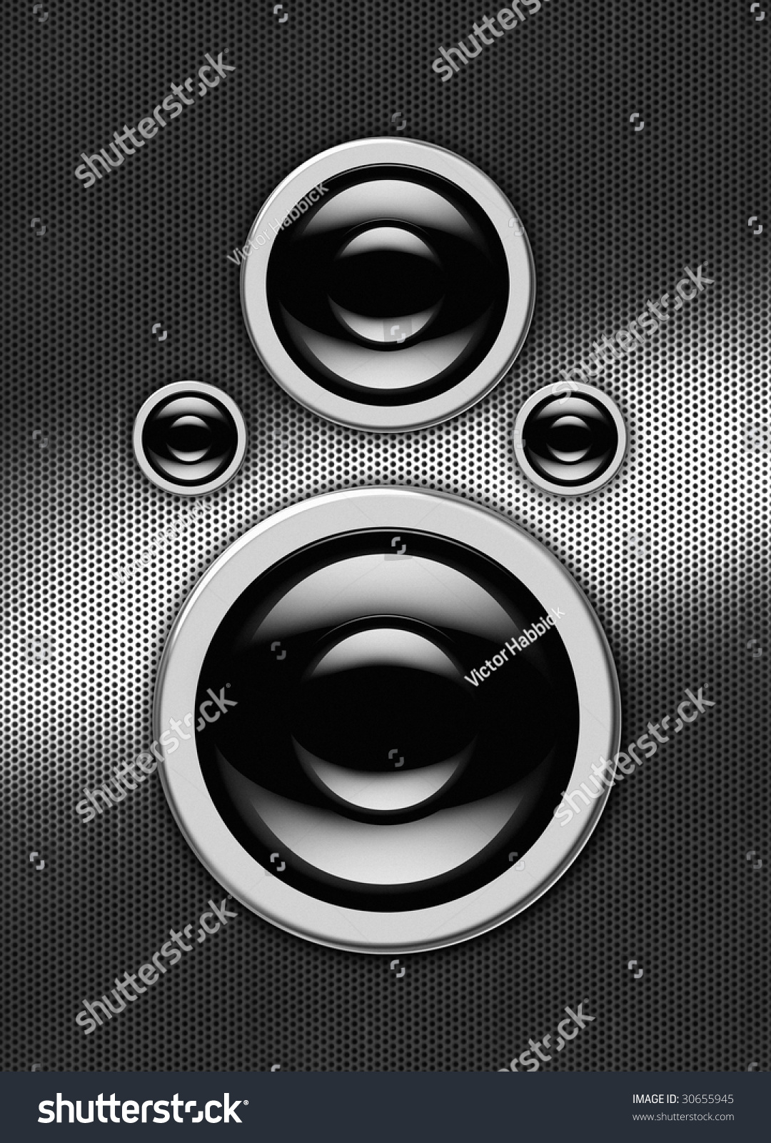 the front of a hi tech audio speaker stock photo 30655945 shutterstock. Black Bedroom Furniture Sets. Home Design Ideas
