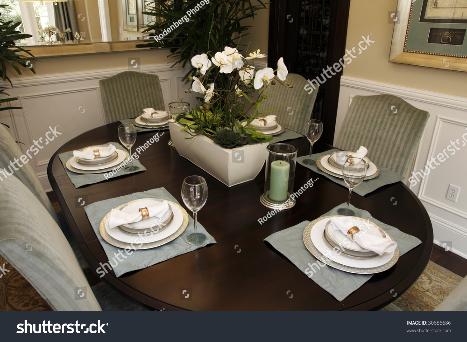 luxury home decor accessories dining table with luxury home decor stock photo 30656686