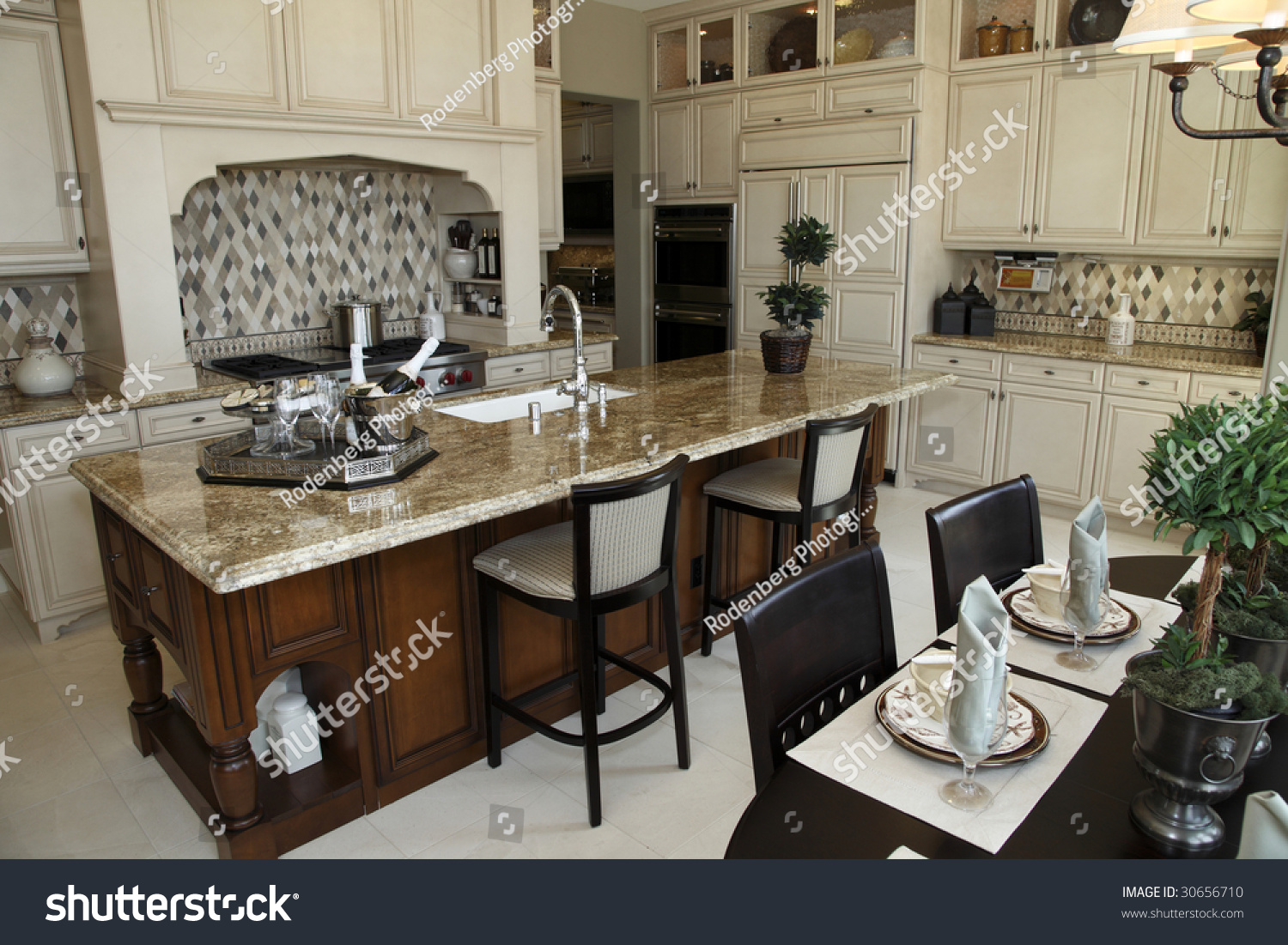 Kitchen breakfast table modern decor stock photo 30656710 shutterstock - Modern kitchen table centerpieces ...