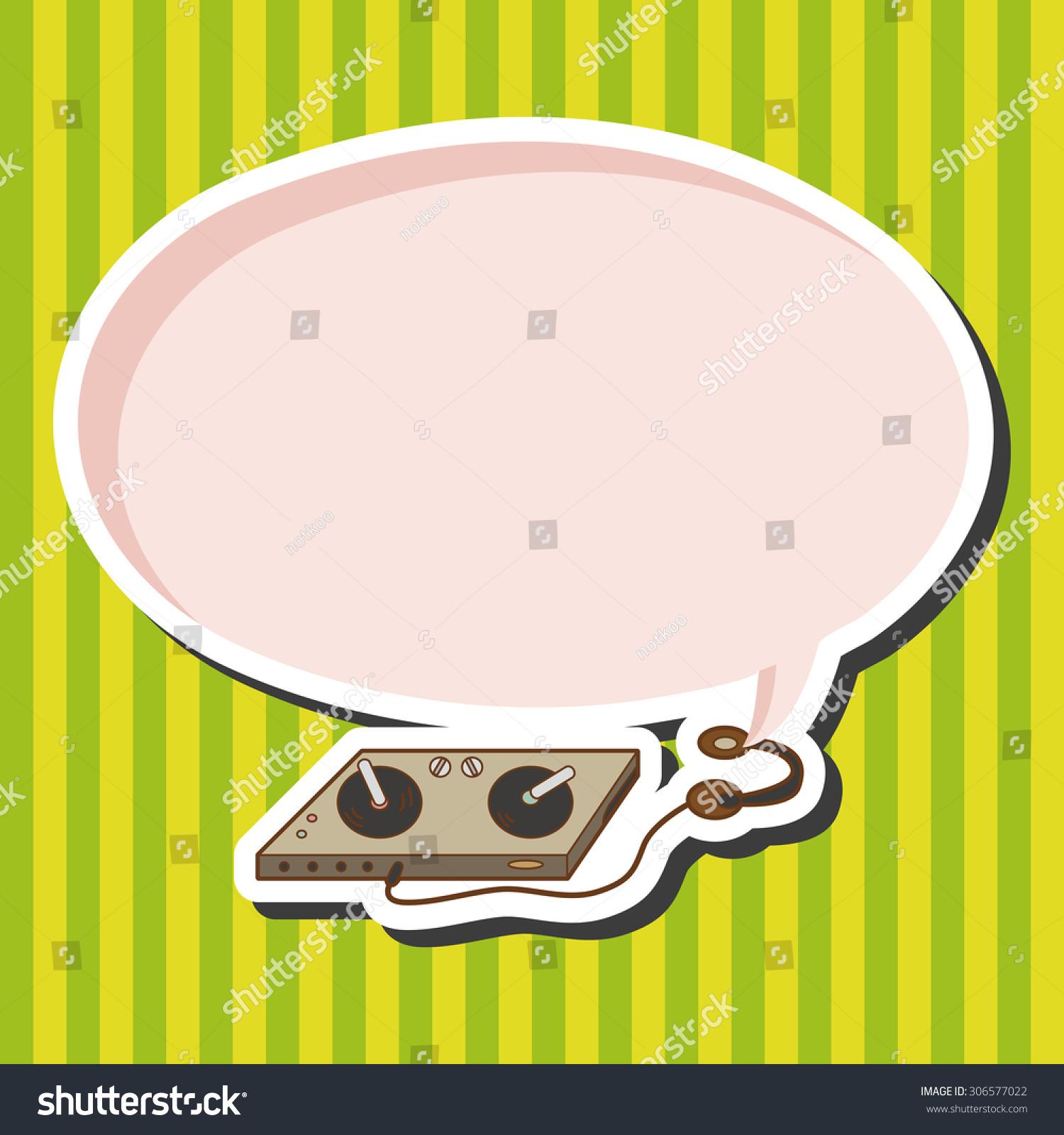 Royalty Free Stock Illustration Of Music Audio Recorder Cartoon Speech Icon