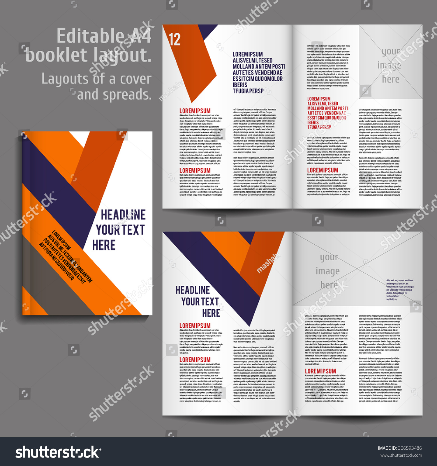 Book Cover Layout Questions : A book geometric abstract layout design stock vector