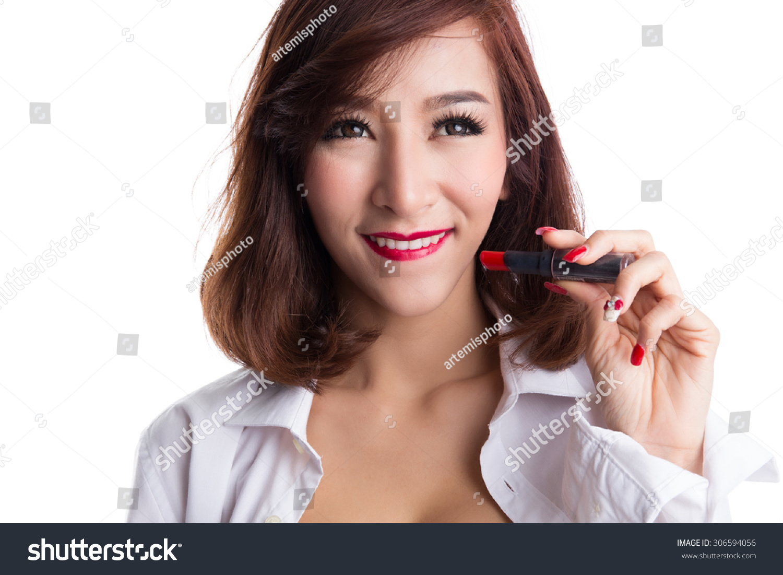 Photo Asian Woman Holding 109