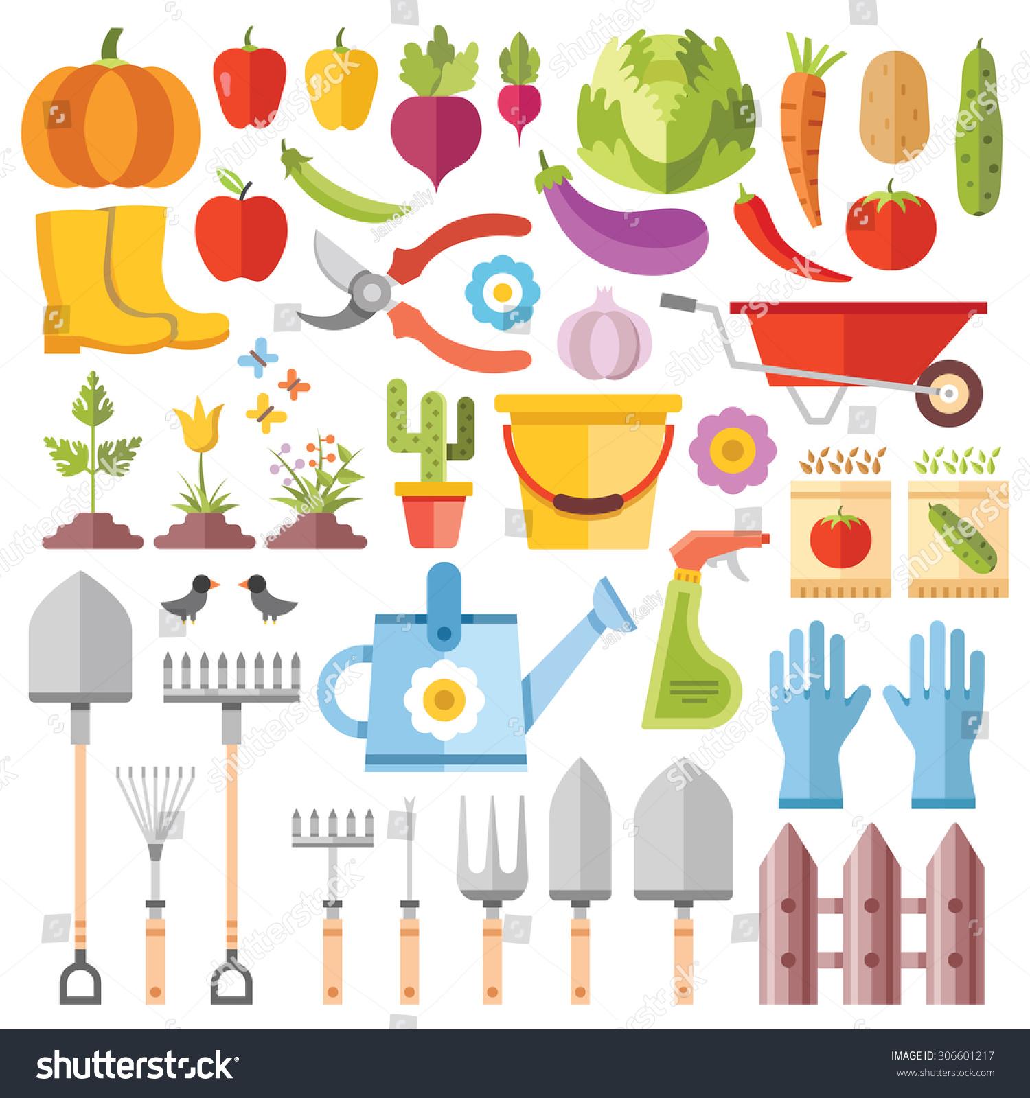 Gardening Tools Horticultural Activities Gardening Ideas Stock ...