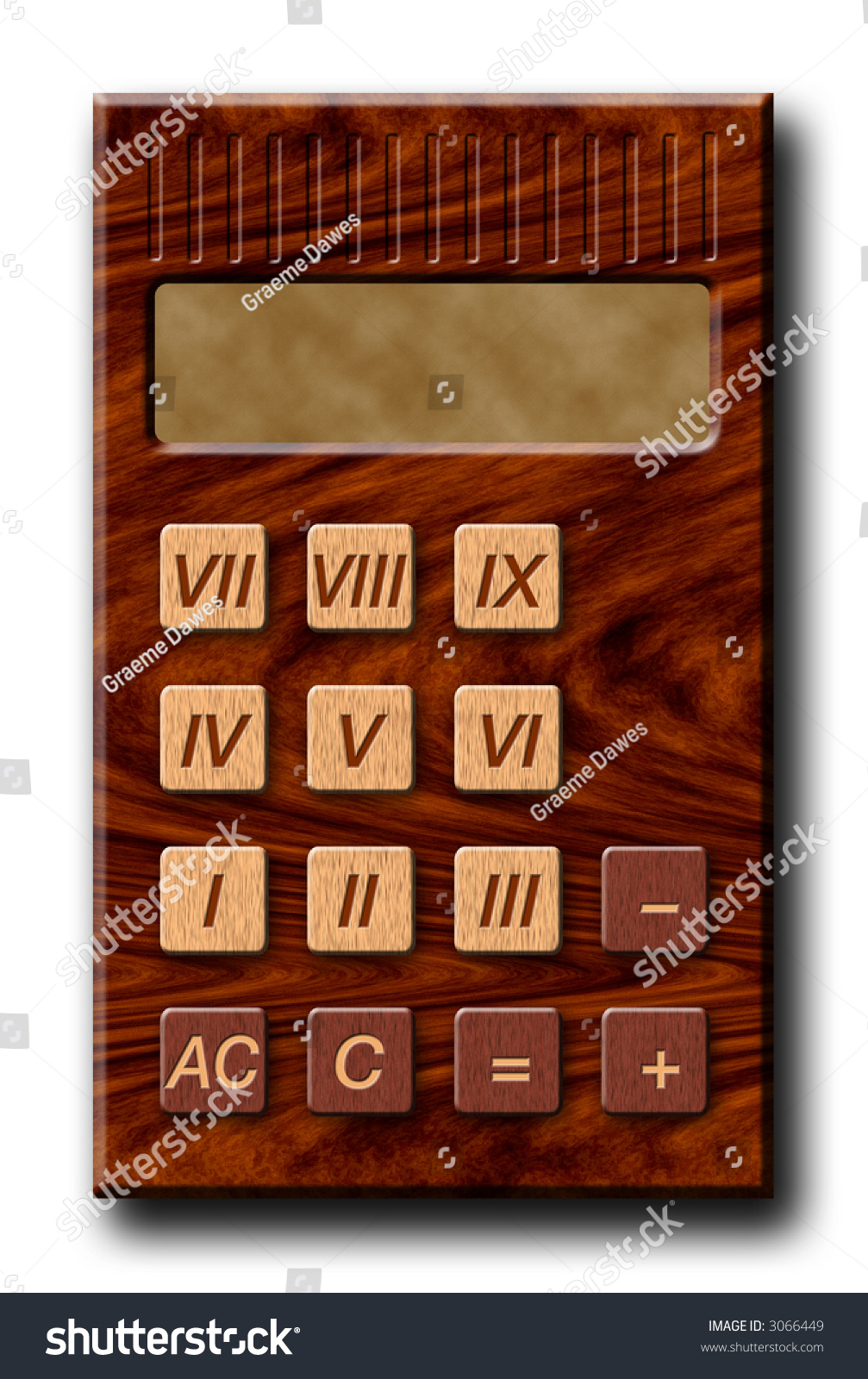 Roman numerals calculator - Wooden Calculator With Roman Numerals Still Using Outdated Accounting Methods