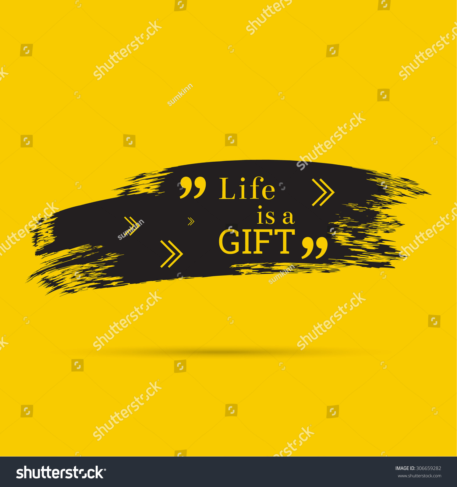 Wise Sayings And Quotes About Life Inspirational Quote Life Gift Wise Saying Stock Vector 306659282