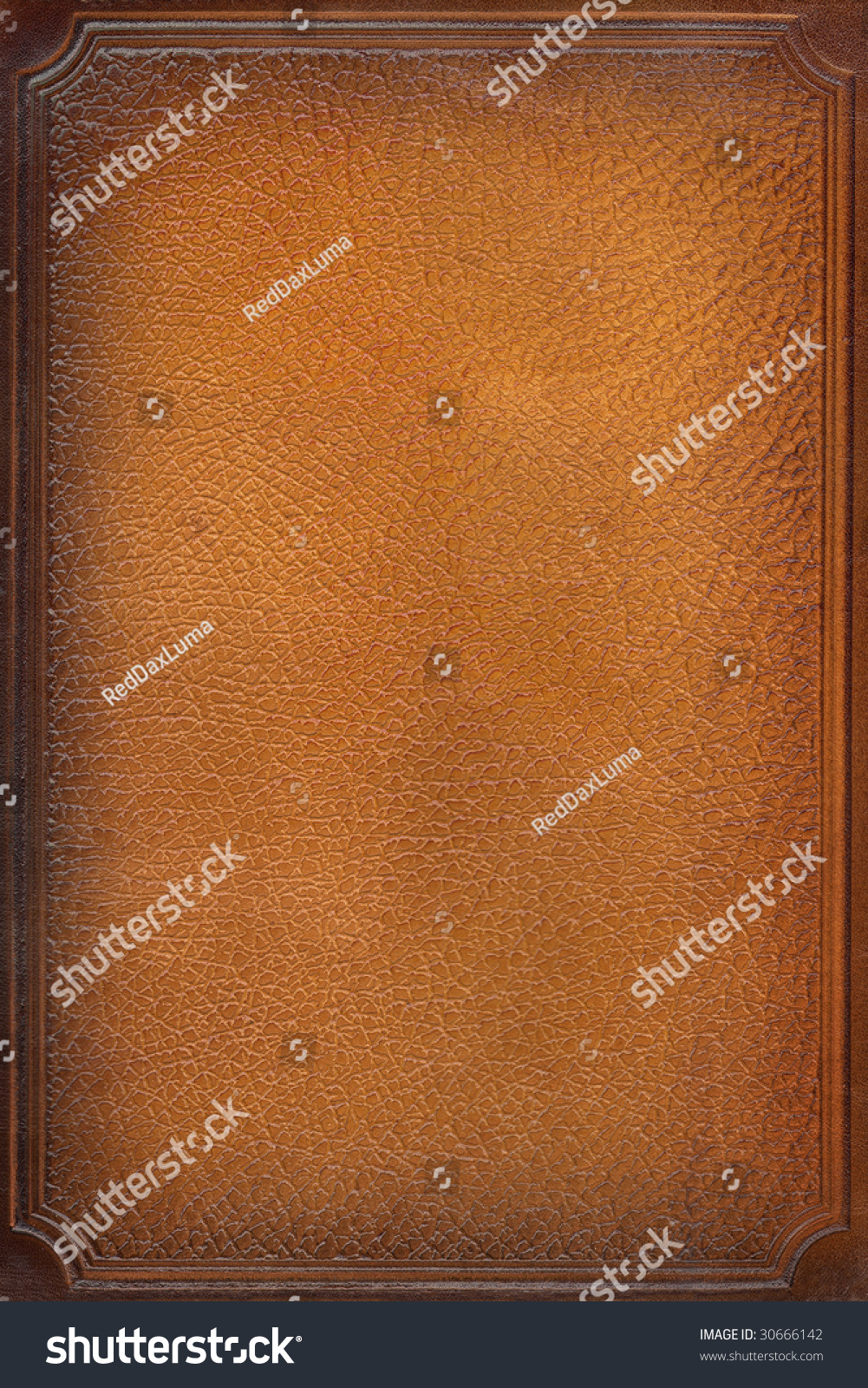 Leather Craft Book Cover : Brown leather craft tooled vintage book stock photo