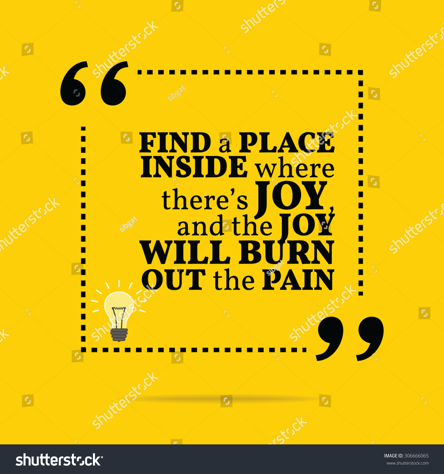 Inspirational Motivational Quote Find Place Inside Stock Vector