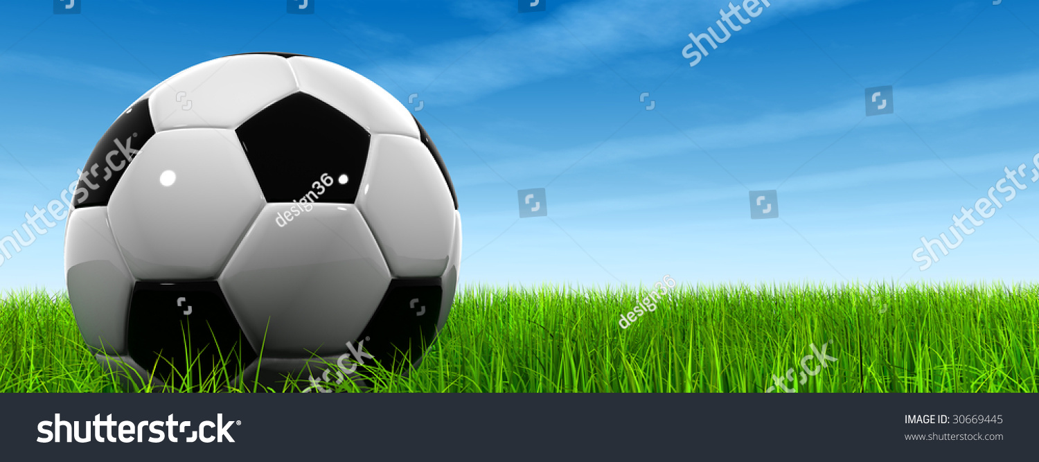 3d Leather Black White Soccer Ball Stock Illustration ...