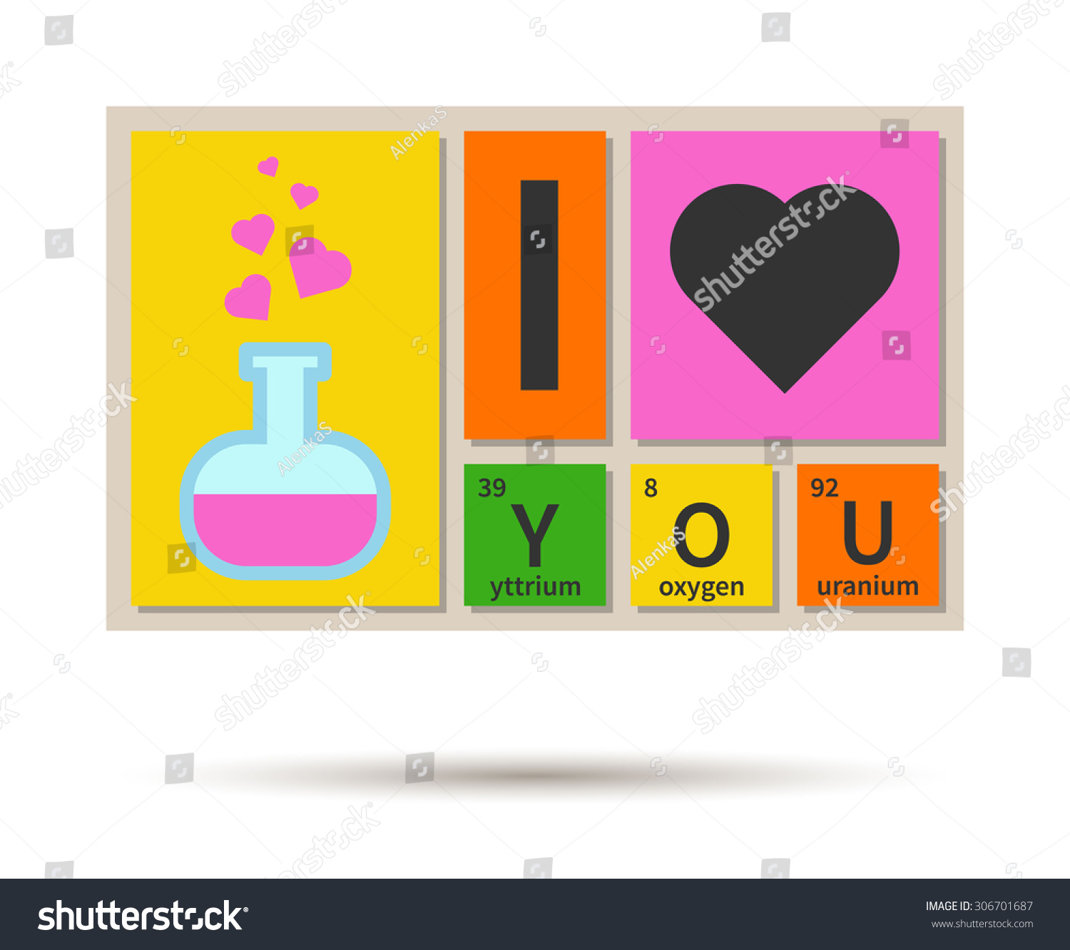 Periodic table element y gallery periodic table images love you banner chemistry theme periodic stock vector 306701687 i love you banner chemistry theme with gamestrikefo Gallery