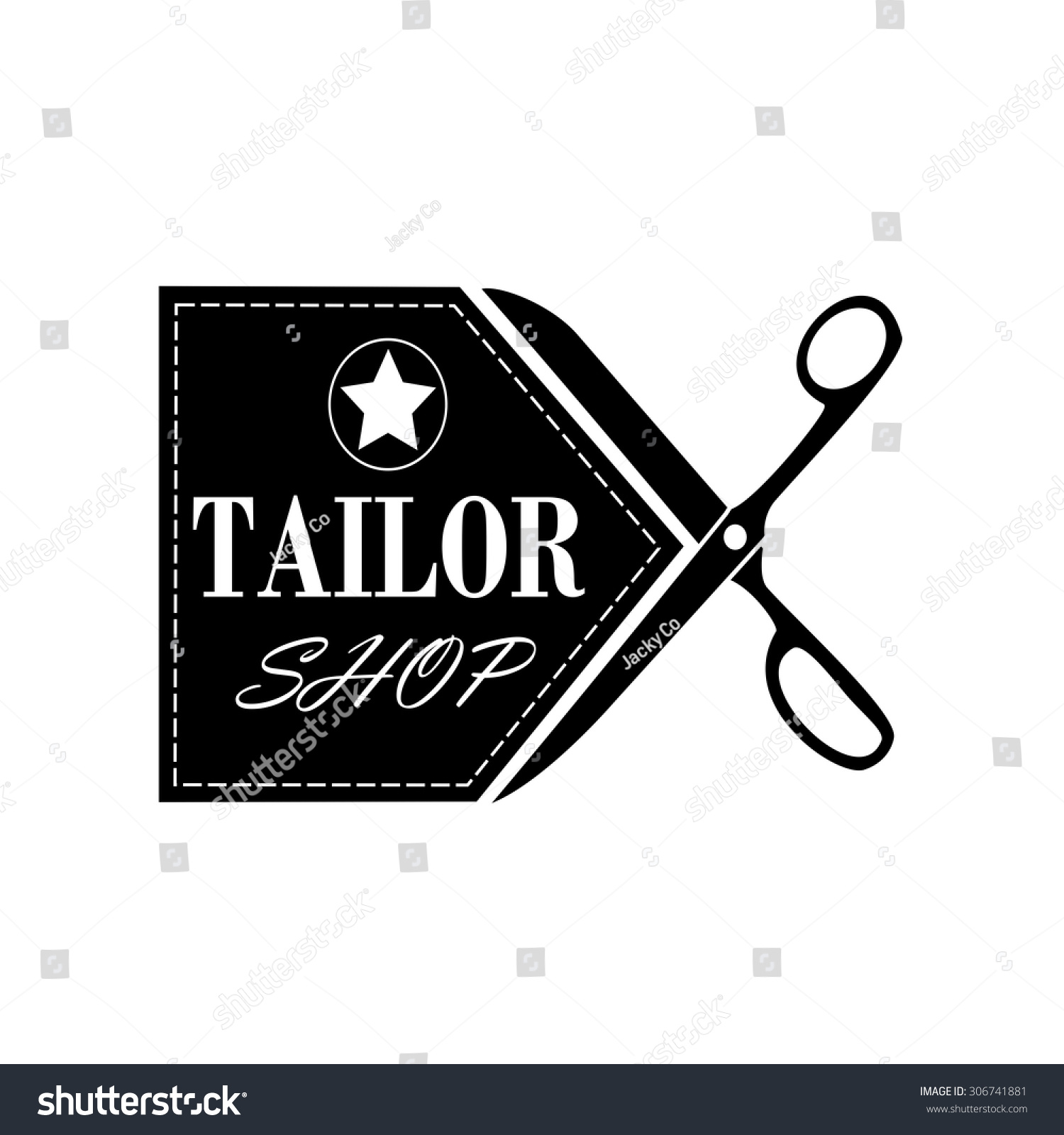 Logo Tailor Shop Sewingvector Stock Vector 306741881 ...