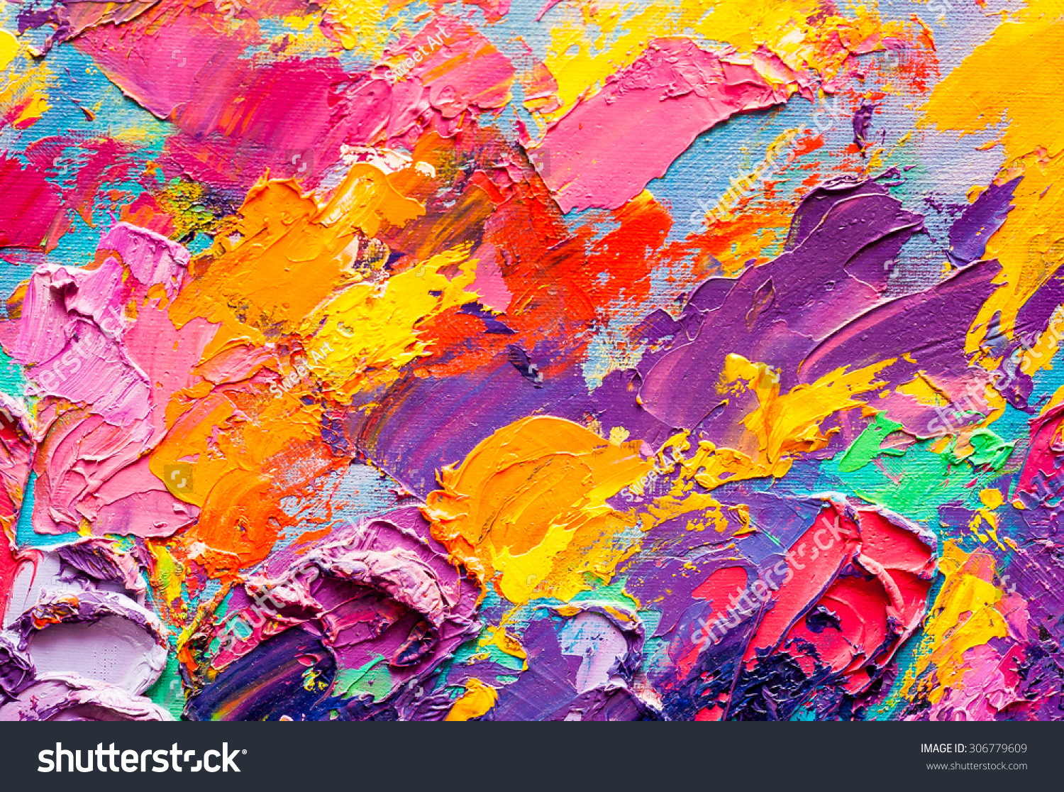 Oil Painting Abstract With Texture