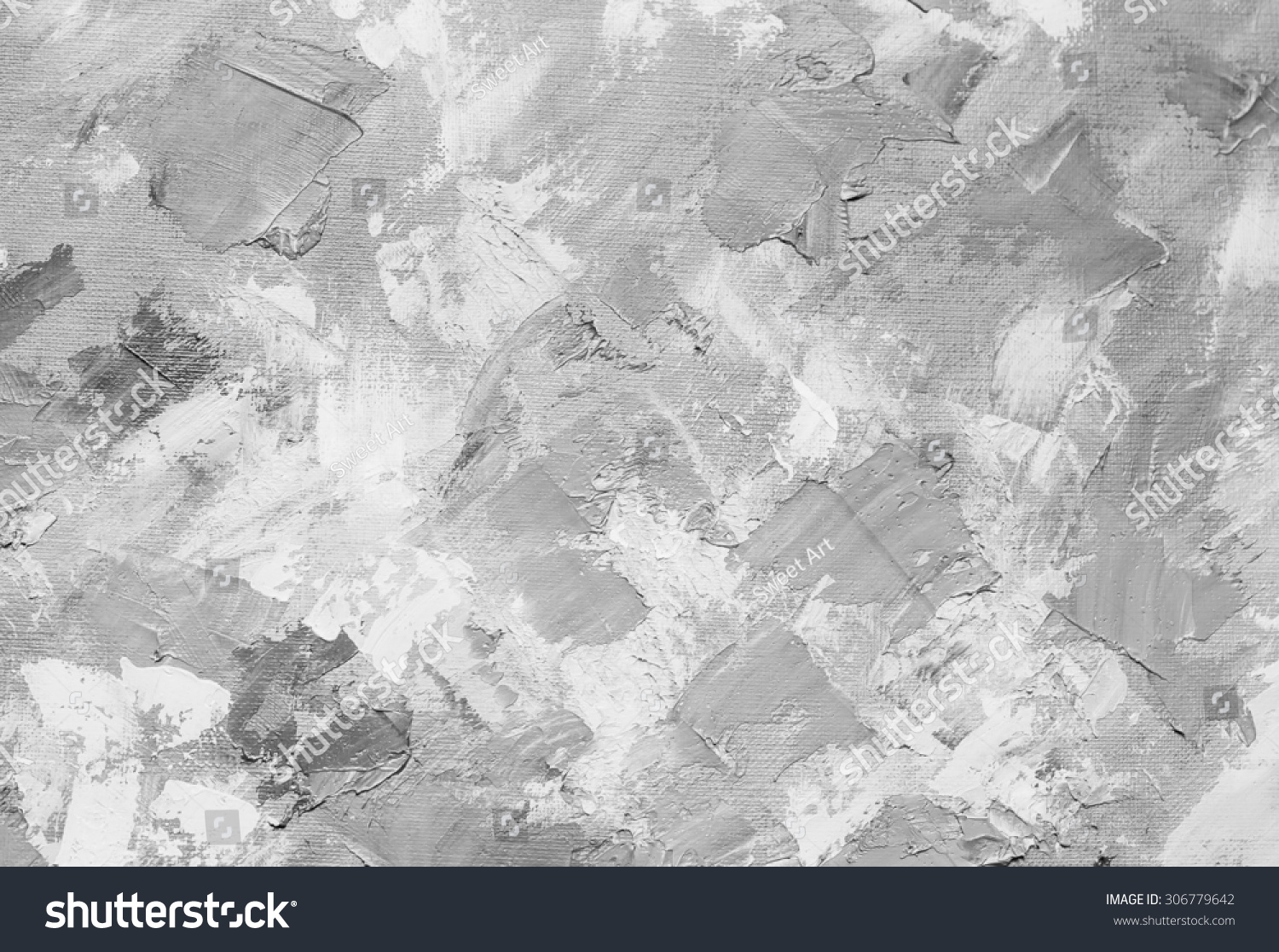 Oil Paint Texture Grunge Black White Stock Illustration 306779642