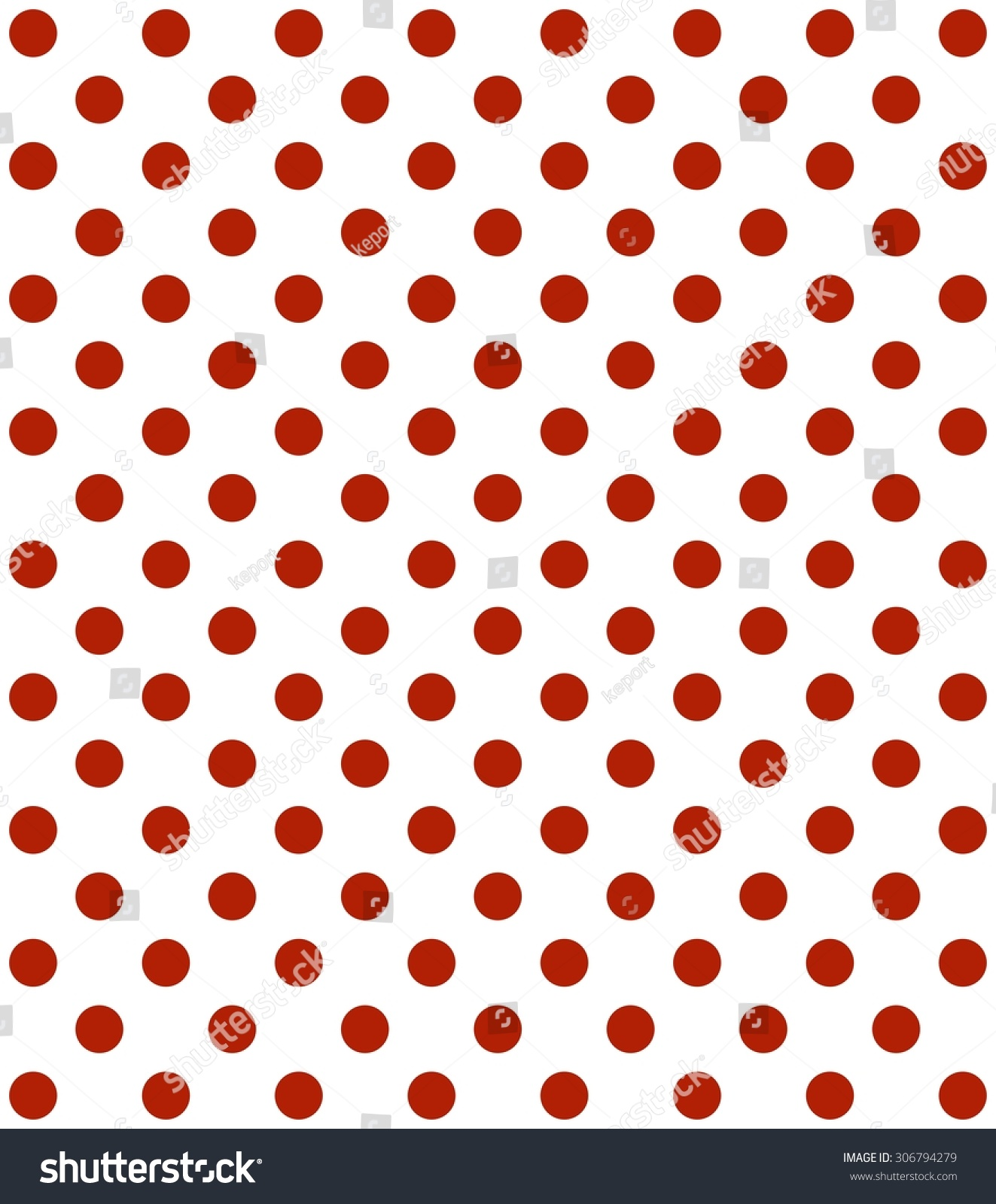 Traditional Dotted Wallpaper Red Dots White Stock Illustration 306794279