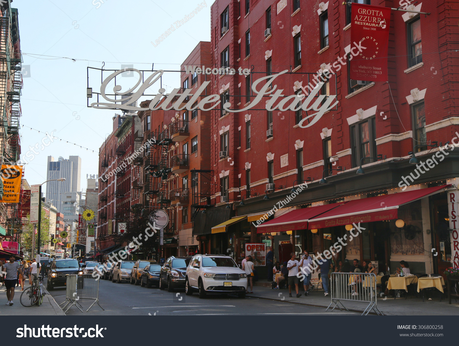 ... Italy sign in Lower Manhattan. Little Italy is an Italian community in