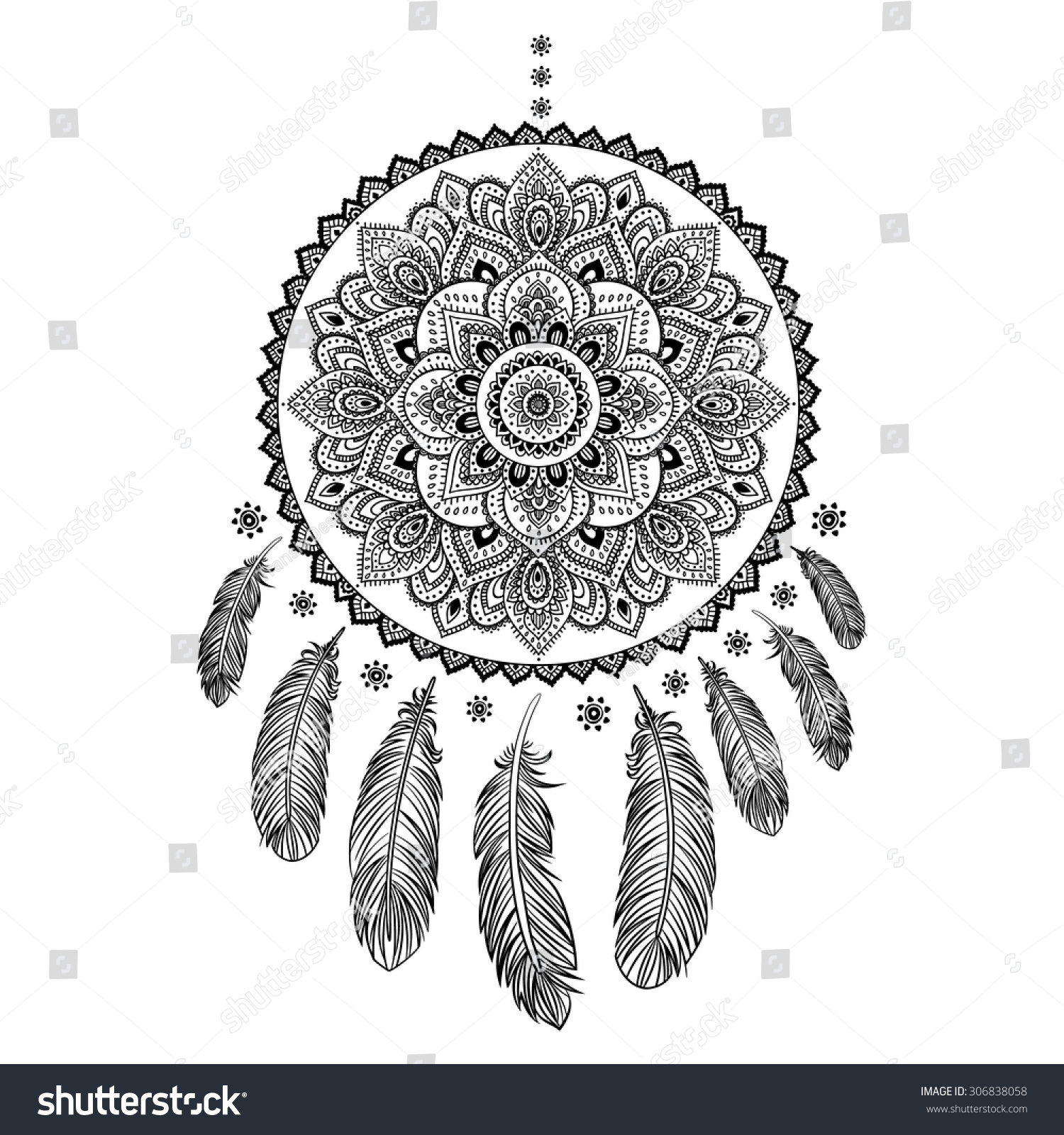 Ethnic American Indian Dream Catcher Can Stock Vector Royalty Free