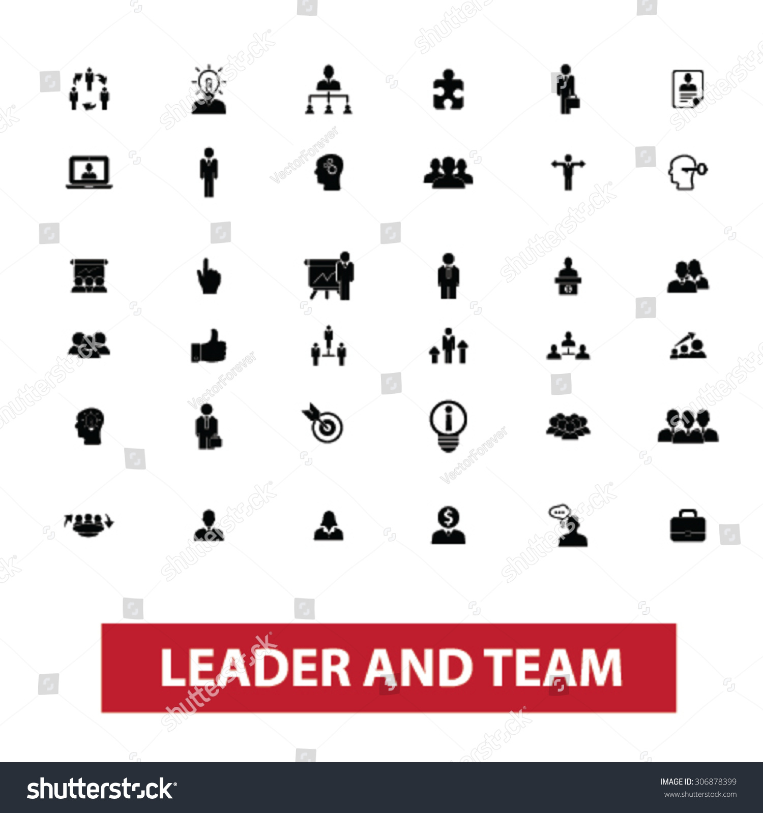 leader team leadership management human resources stock vector leader team leadership management human resources organization work avatar