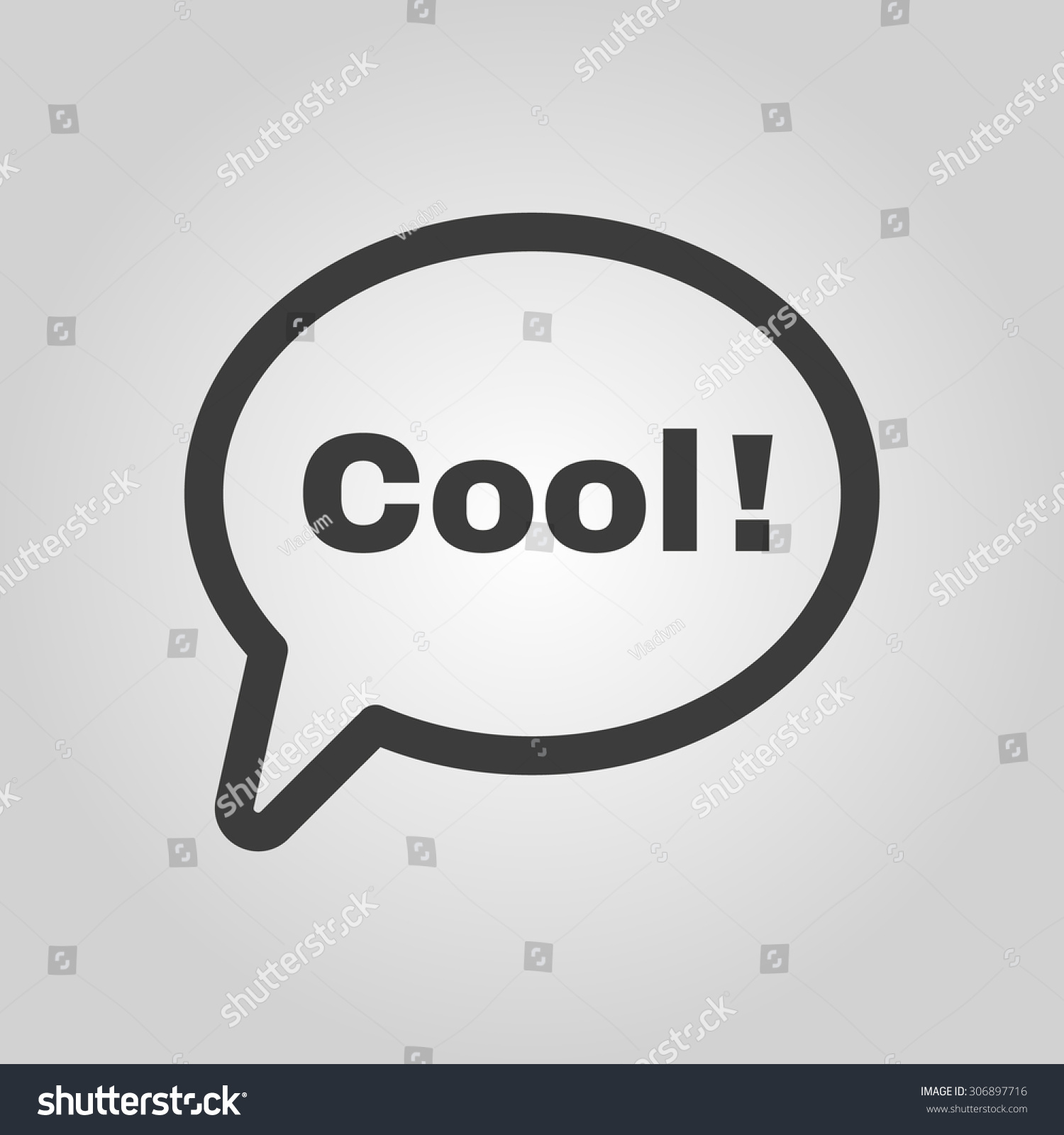 Speech Bubble Word Cool Icon Internet Stock Vector Royalty Free
