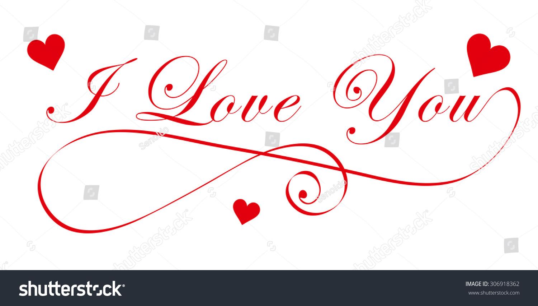 i love you in cursive font - photo #2