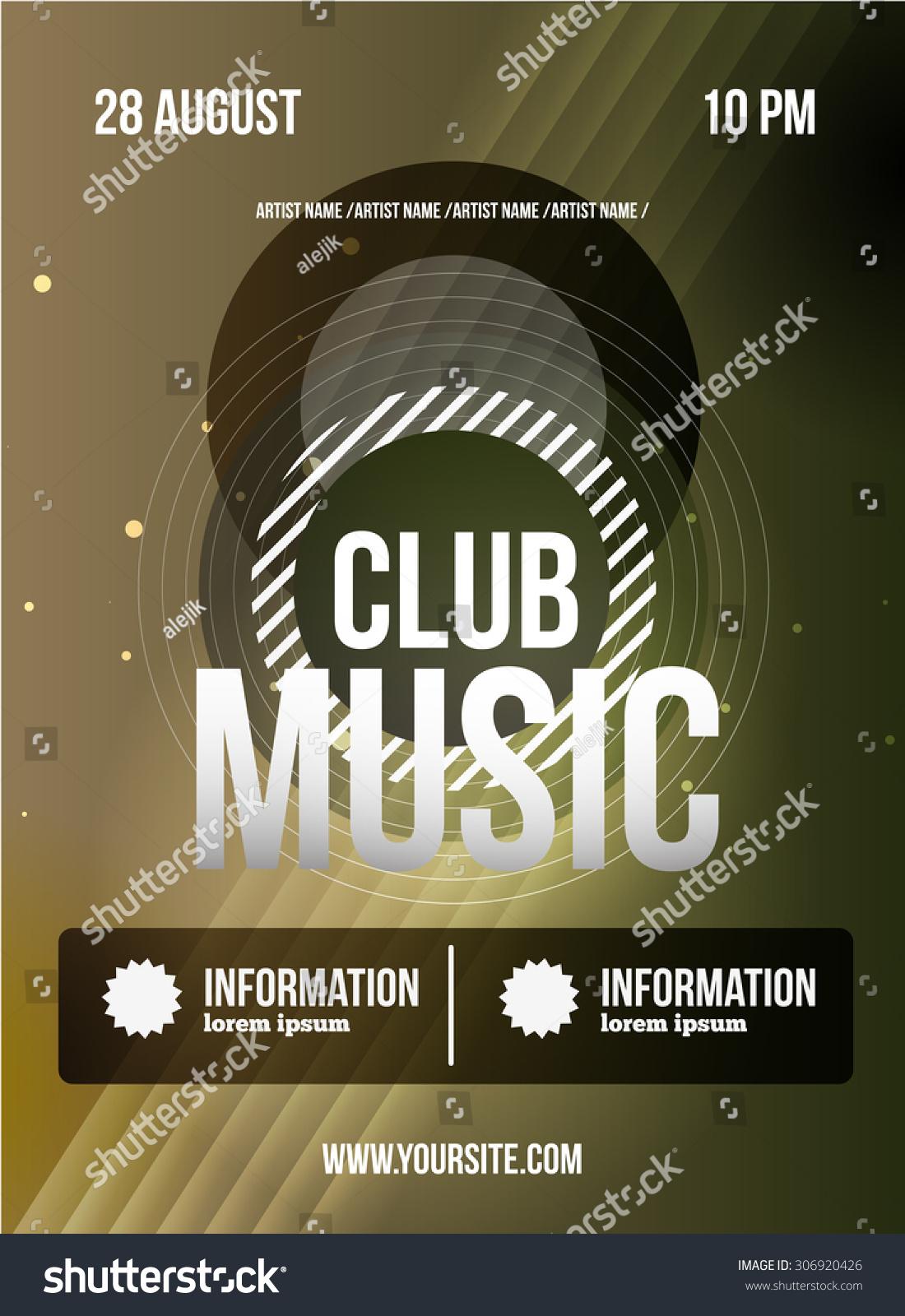 Party Flyer Club Music Flyer Dj Vector 306920426 Shutterstock – Music Flyer