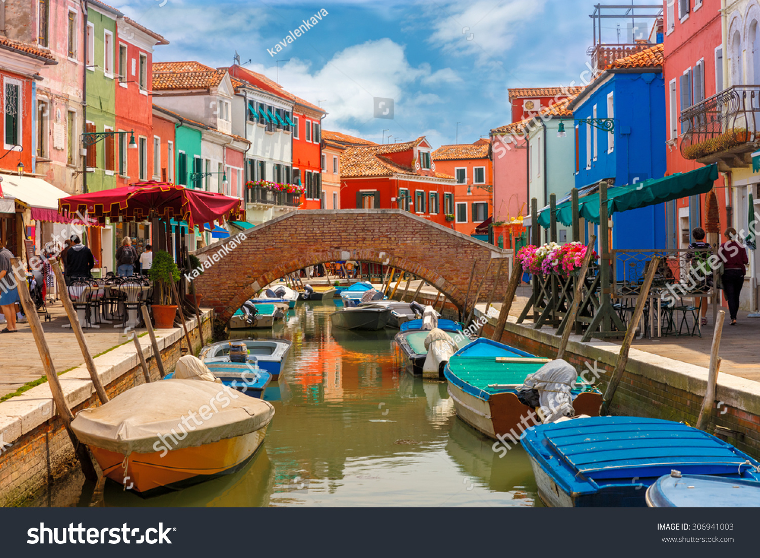 Colorful burano italy burano tourism - Bridge And Canal With Colorful Houses On The Famous Island Burano Venice Italy
