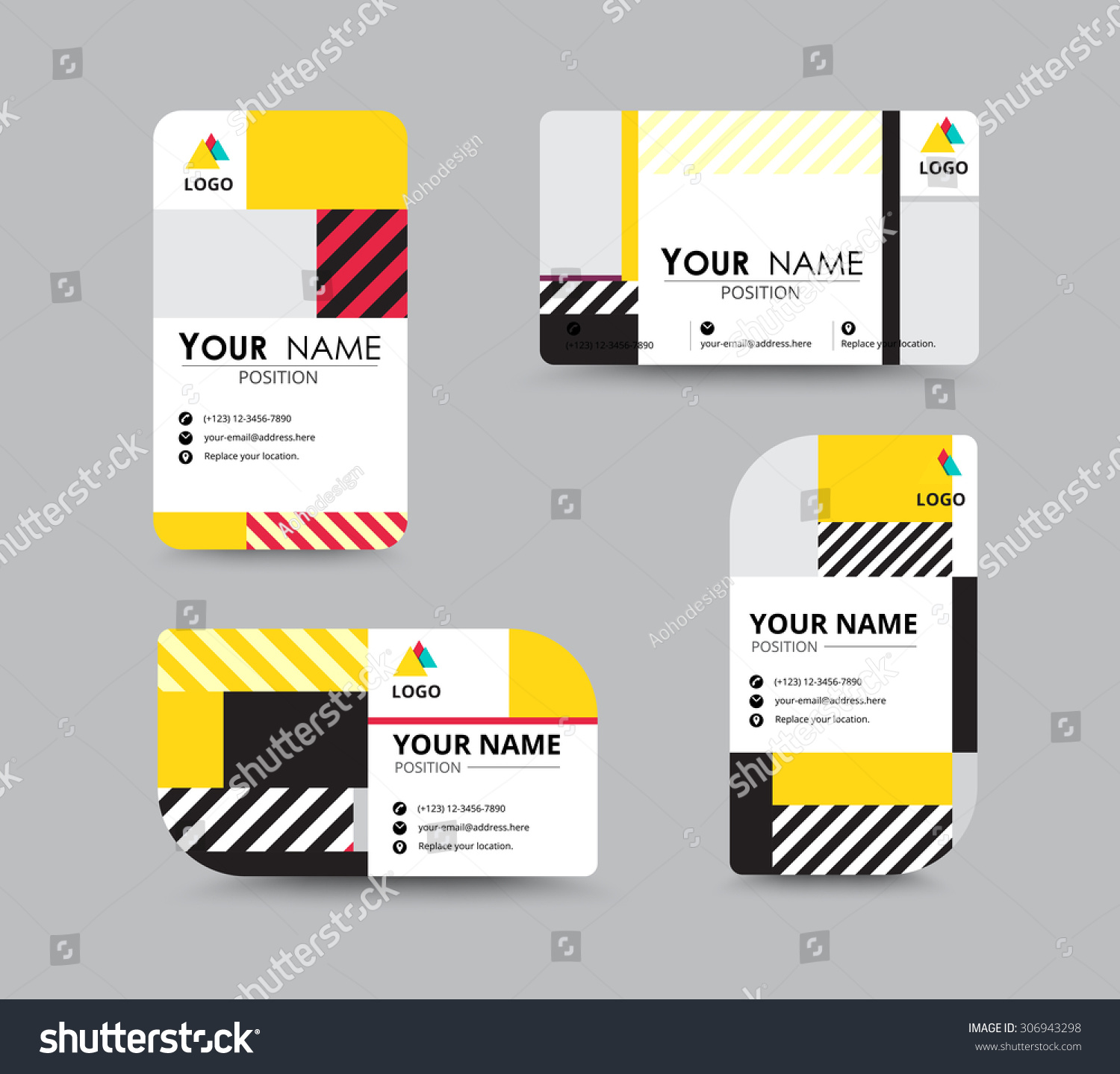 Modern Business Card Name Card Design Stock Vector 306943298 ...