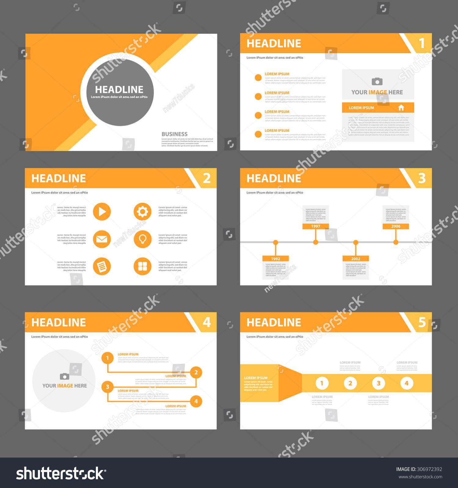 orange multipurpose presentation template flat design set for orange multipurpose presentation template flat design set for brochure flyer marketing and advertising