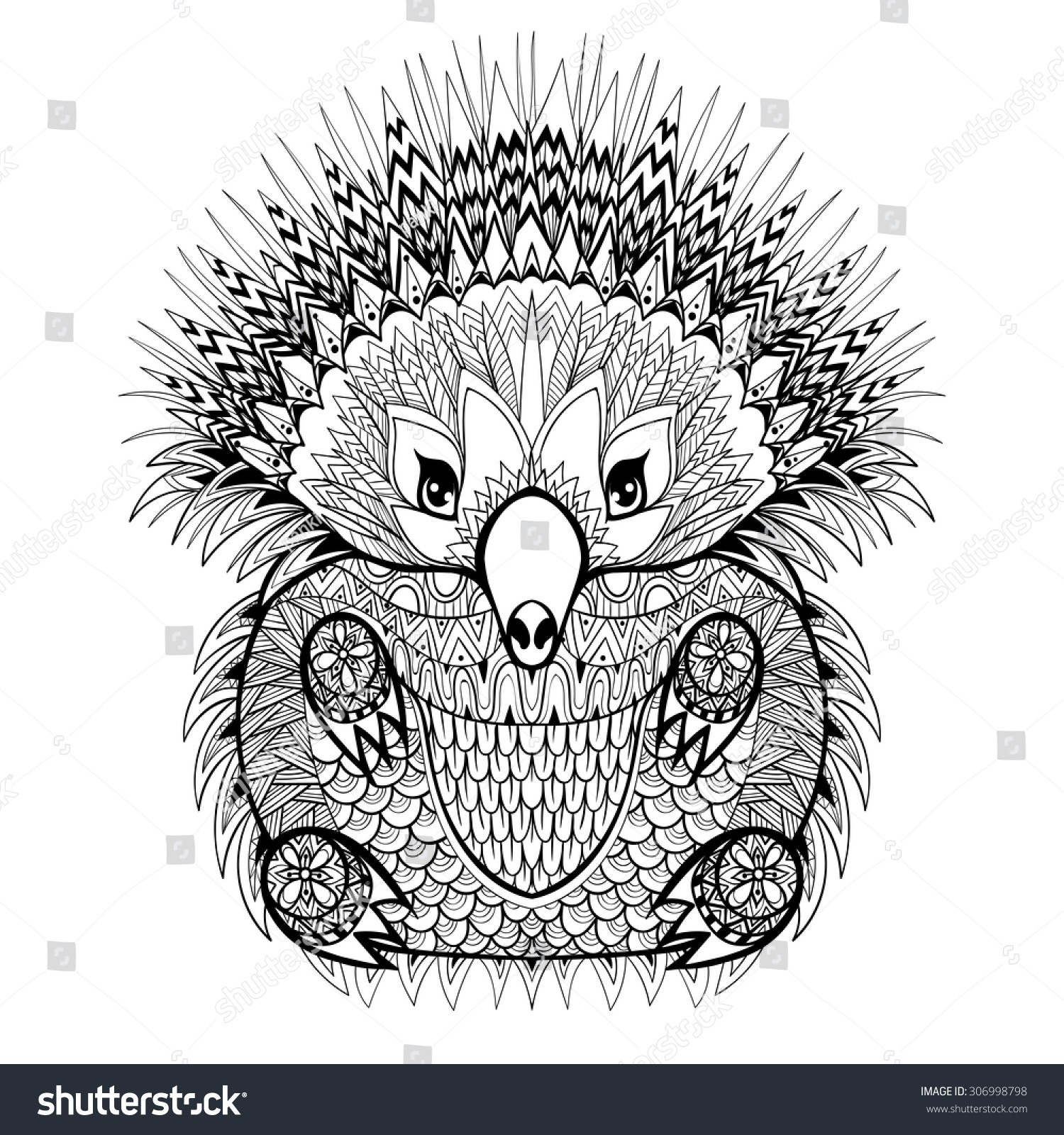 Coloring Pages Coloring Pages Of Animals For Adults coloring pages of animals for adults eassume com hand drawn tribal totem echidna australian stock vector 306998798