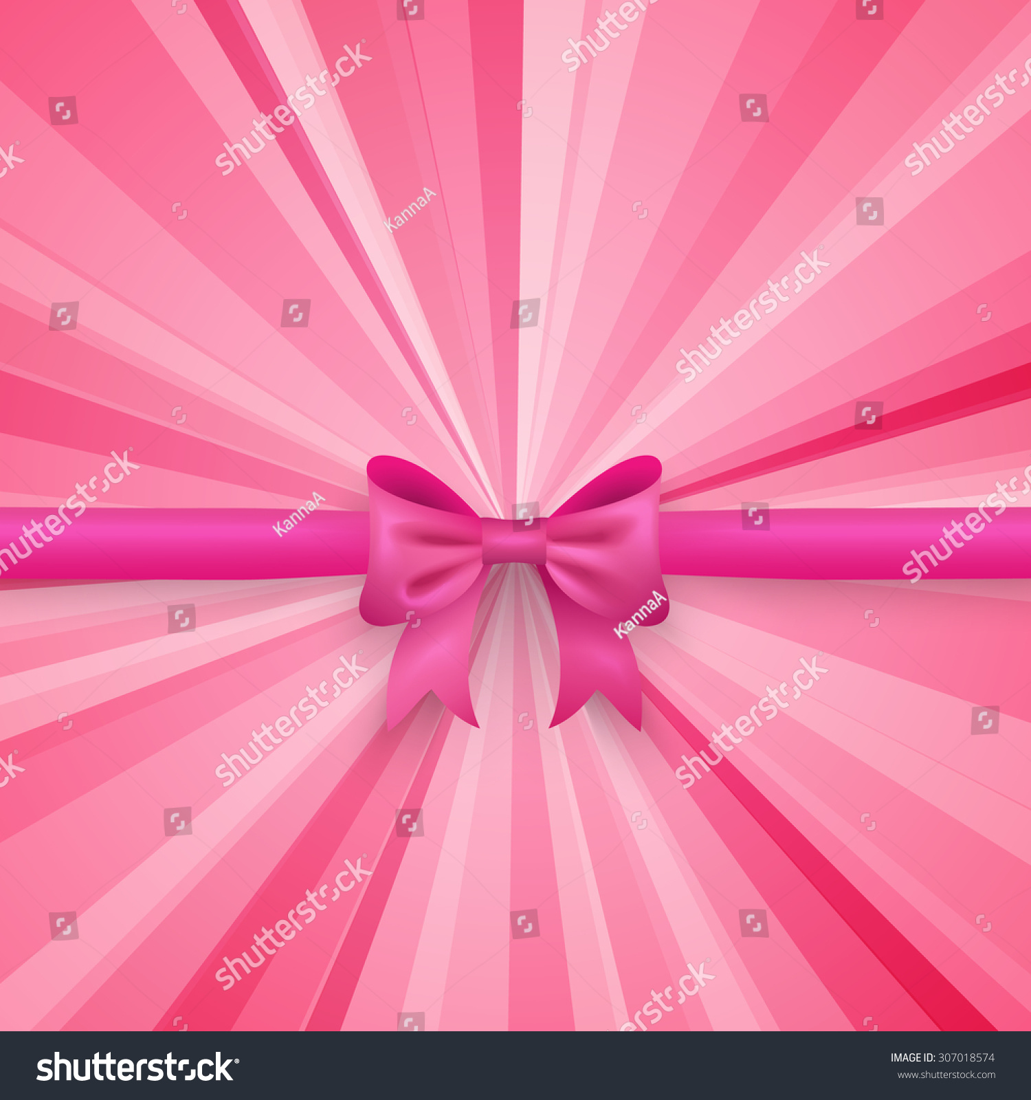 Romantic vector seamless background greeting card wallpaper vector art - Romantic Vector Pink Background With Cute Bow And Pattern Pretty Design Greeting Card Wallpaper