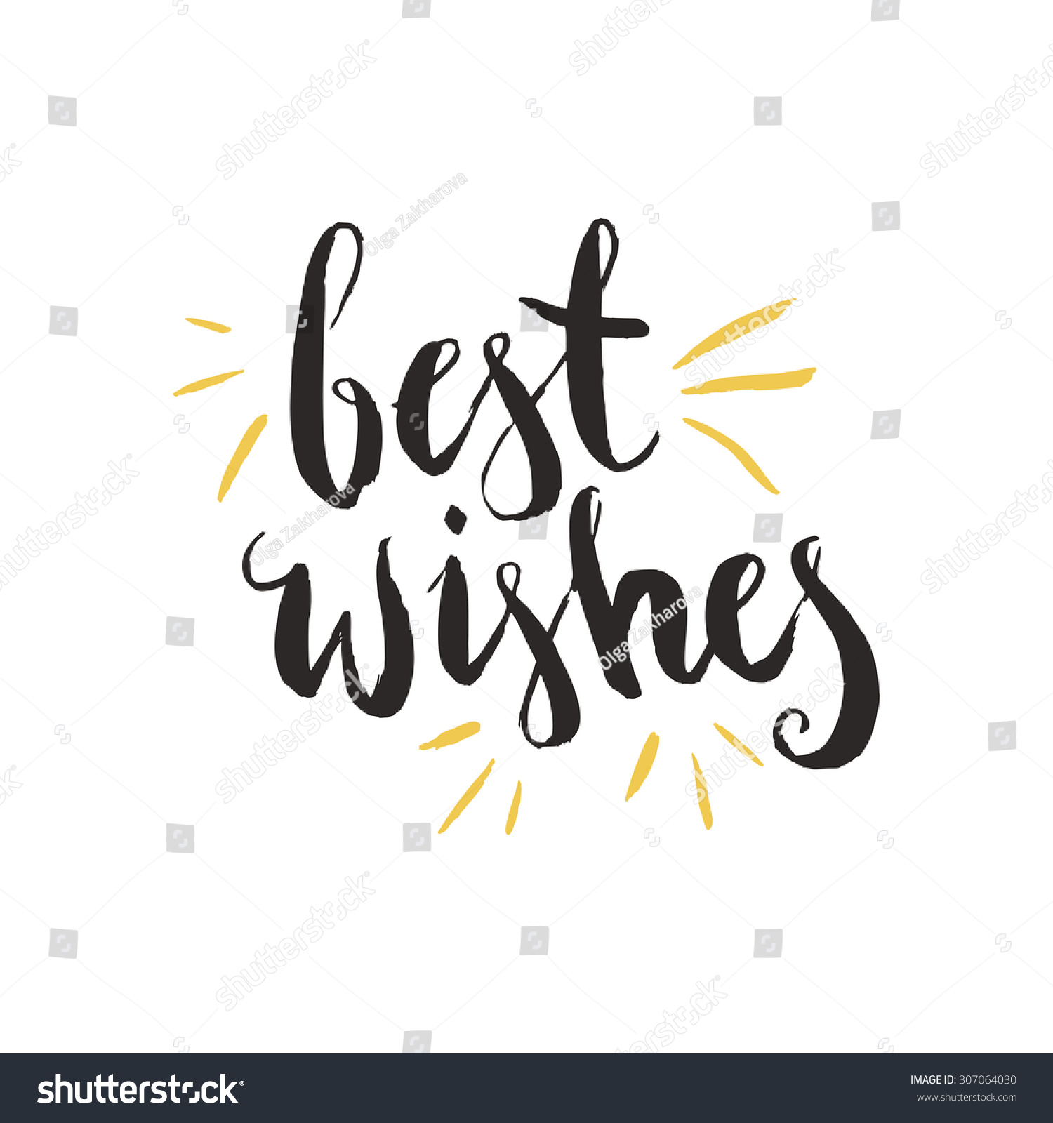 Best Wishes Hand Drawn Holiday Christmas Stock Vector (Royalty Free ...