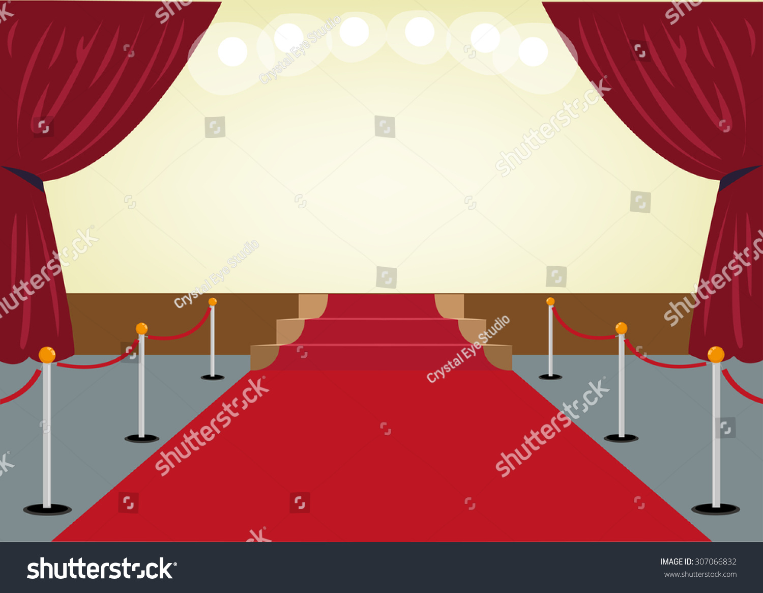 Carpet clipart  Red Carpet Towards Stage Red Curtain Stock Vector 307066832 ...