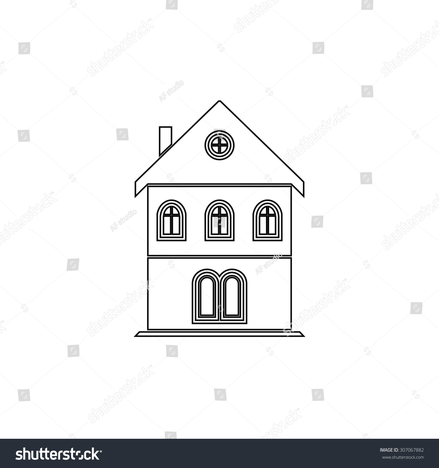 House outline picture - Save To A Lightbox