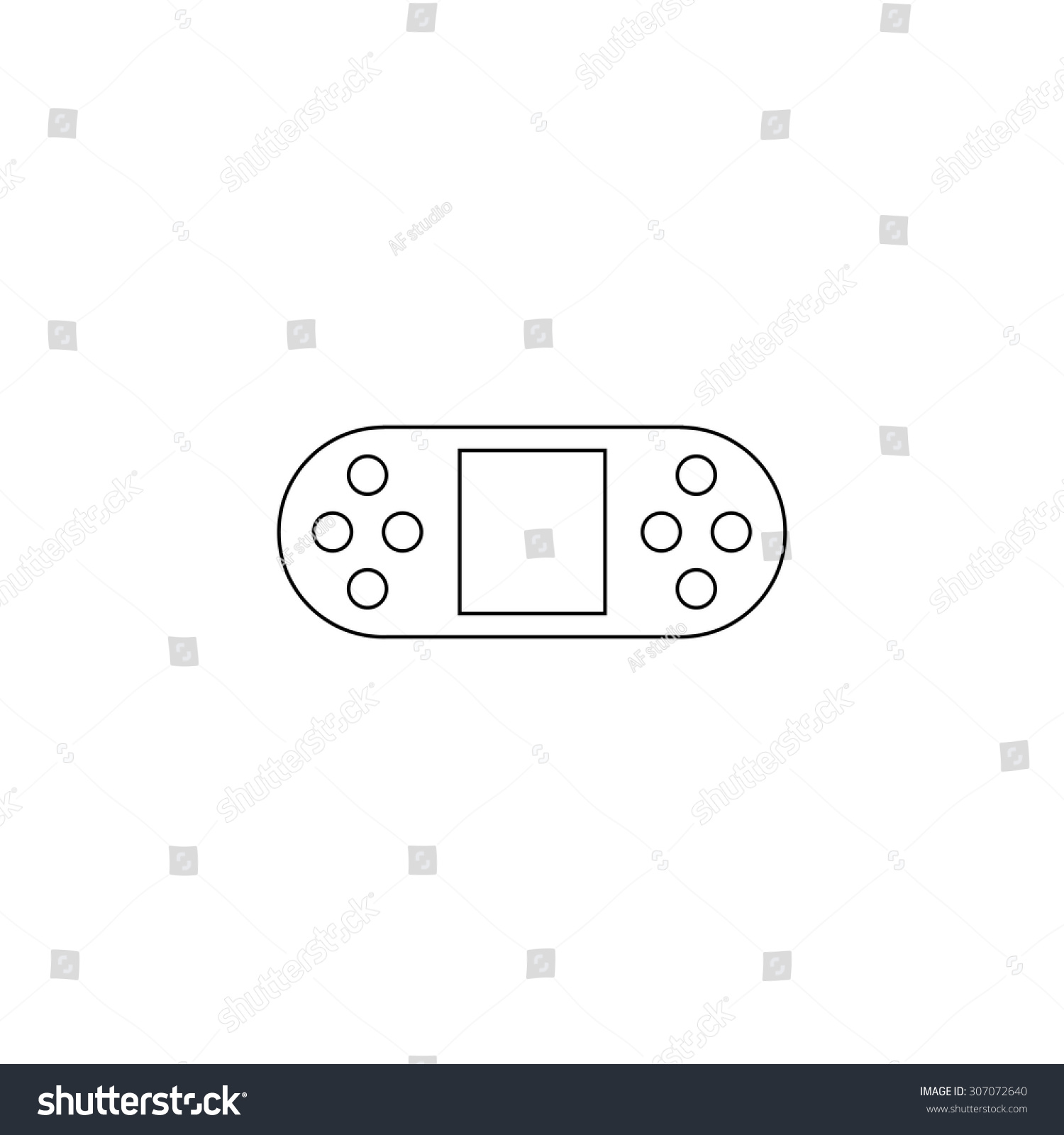 Portable Video Game Console Outline Simple Flat Icon Isolated On - Video game outline