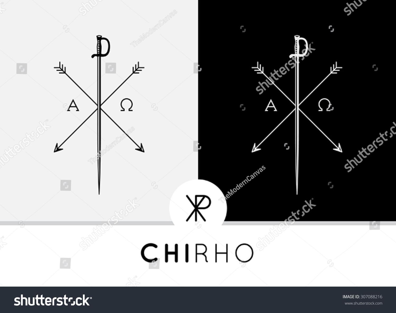 Conceptual Abstract Chi Rho Icon Symbol Design Stock Vector Royalty