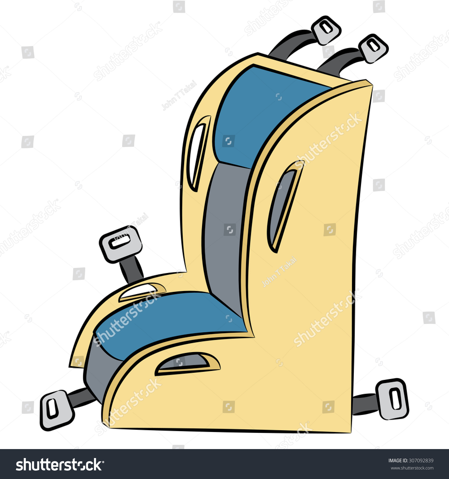Image Cartoon Child Safety Car Seat Stock Vector Royalty Free 307092839