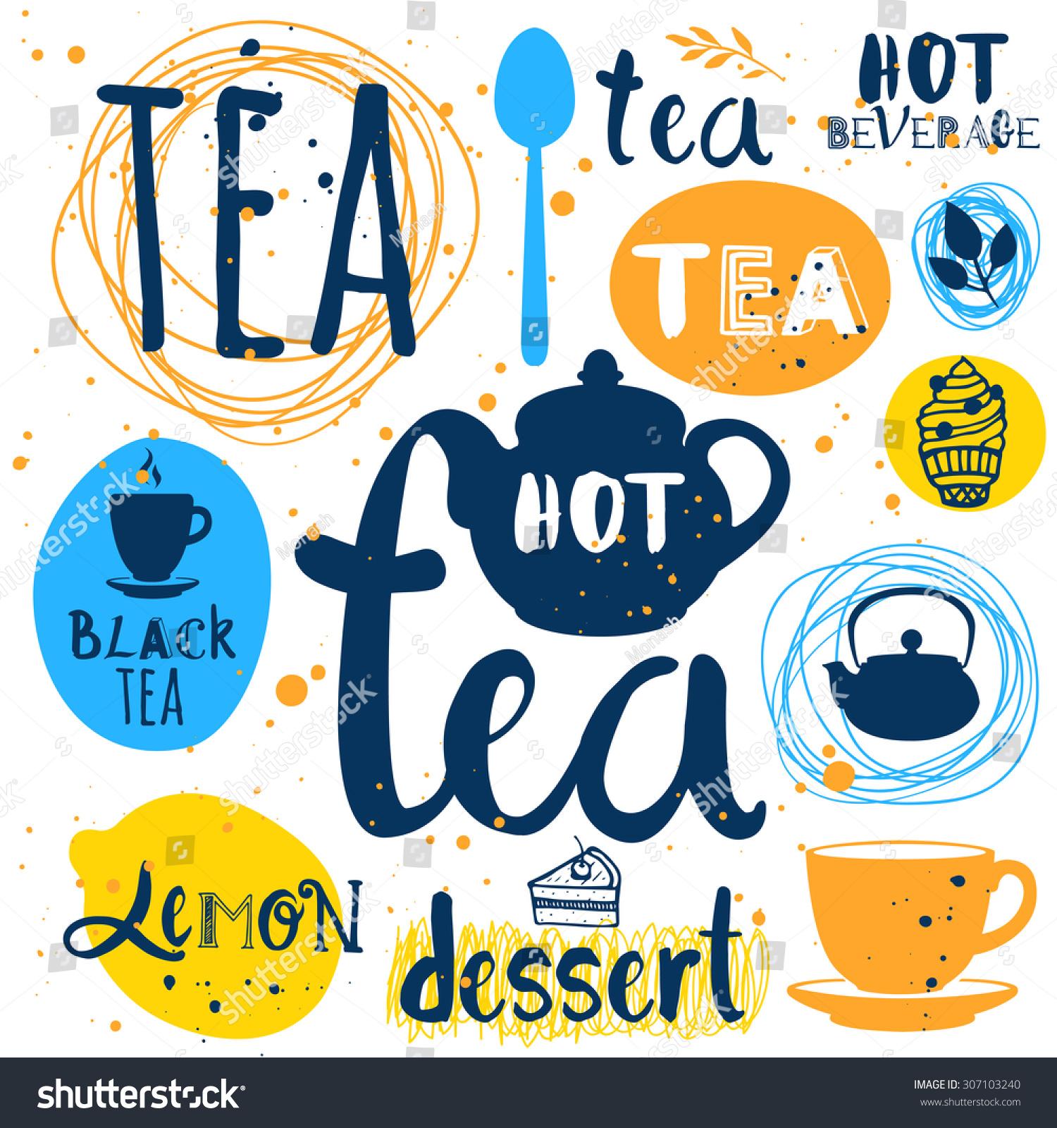 Vector Illustration Tea Logo Labels Stock Vector HD Royalty Free