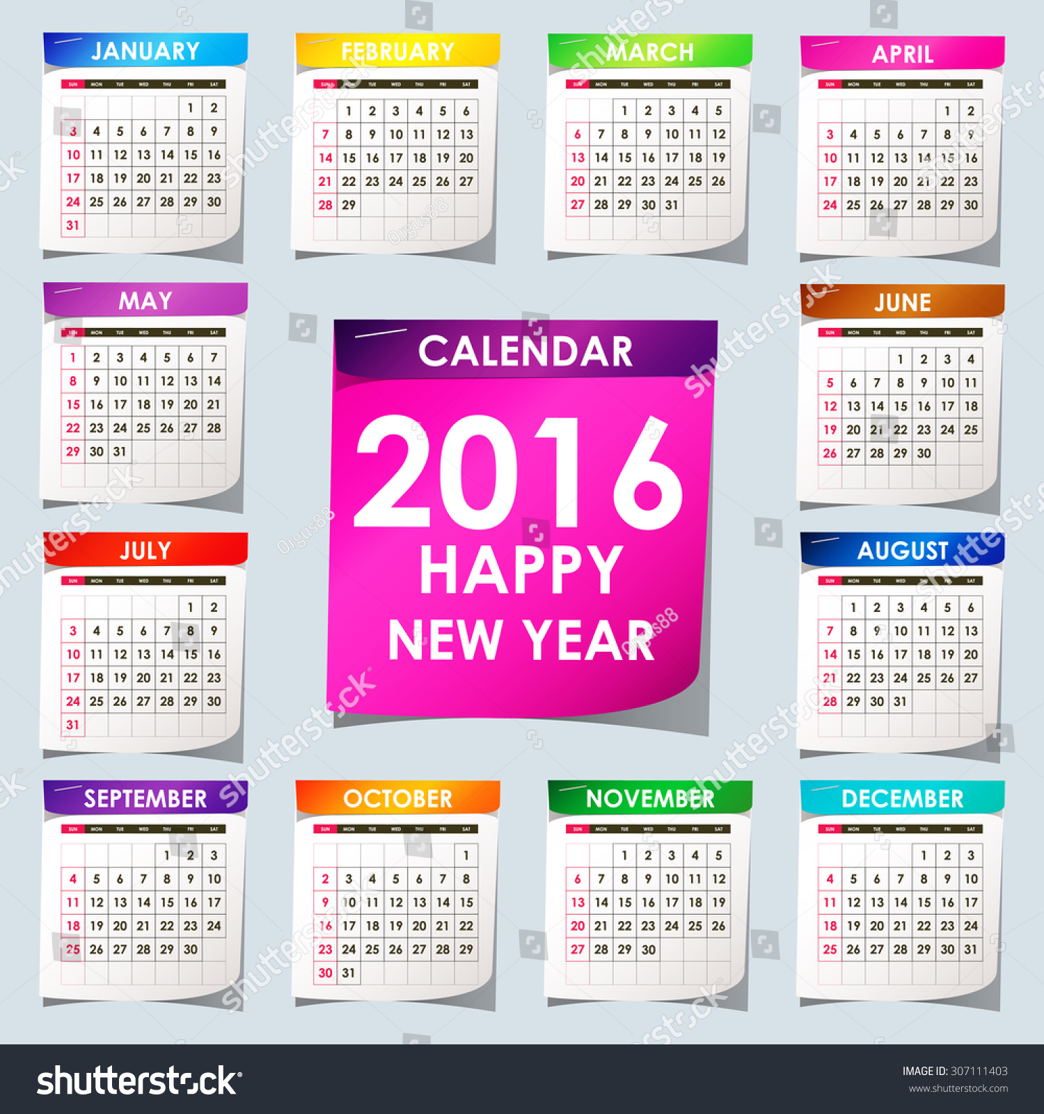 Vertical Calendar Design : Simple calendar design stock vector