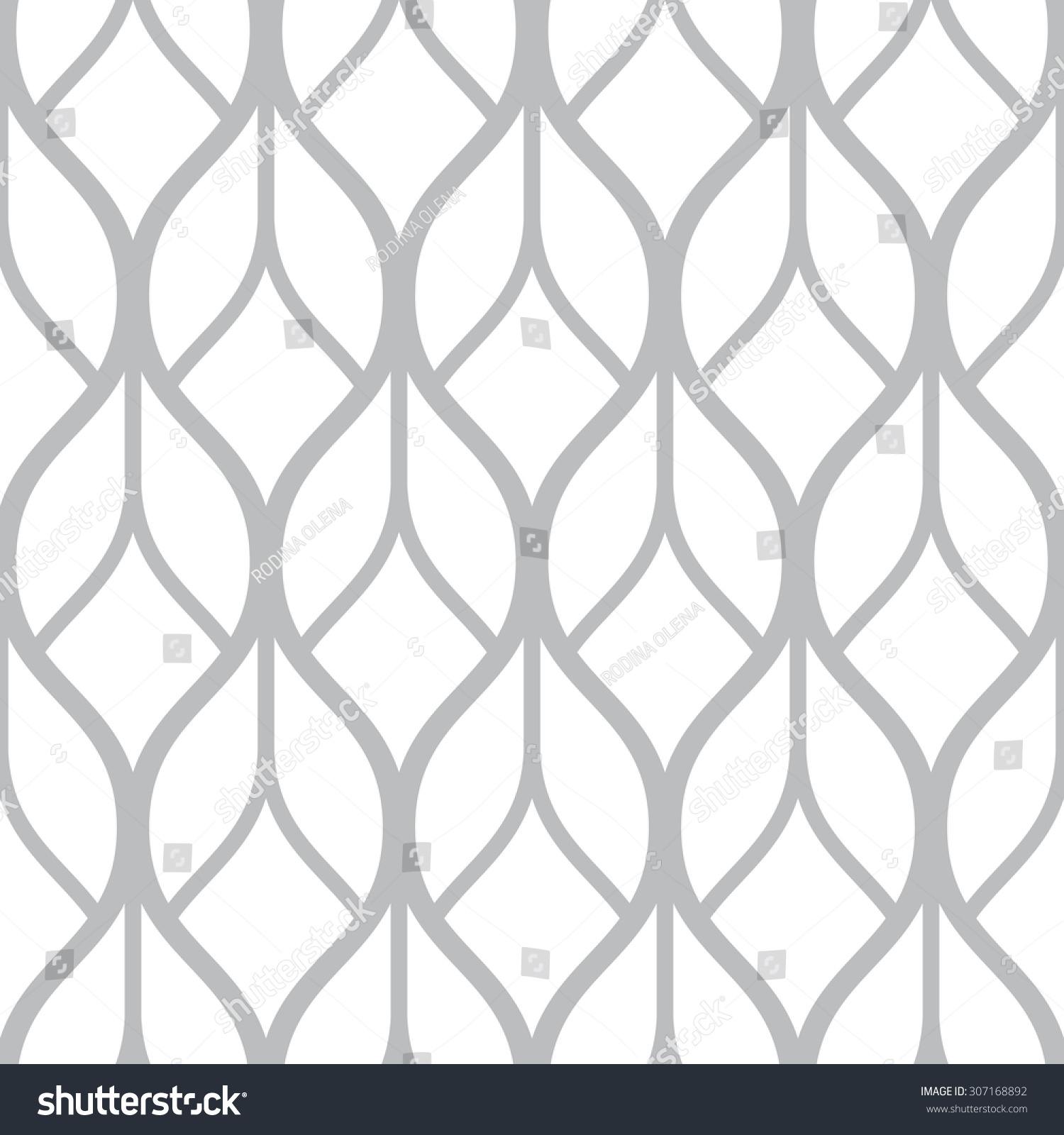 Vector Seamless Monochrome Pattern   Simple Geometric Lines On White Square  Background