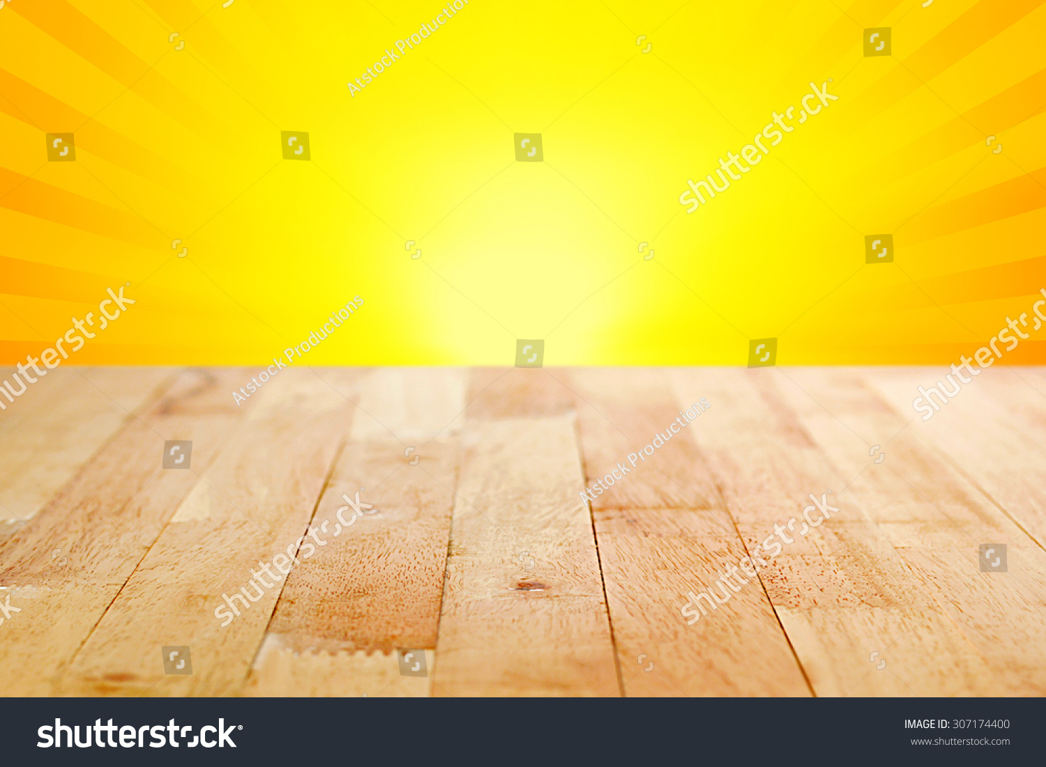 Wood Table Top Empty Wood Table Top On Blur Stock Photo  : stock photo wood table top on yellow and orange radiate sunburst background can be used for display or 307174400 from alkotshnews.com size 1500 x 1101 jpeg 463kB