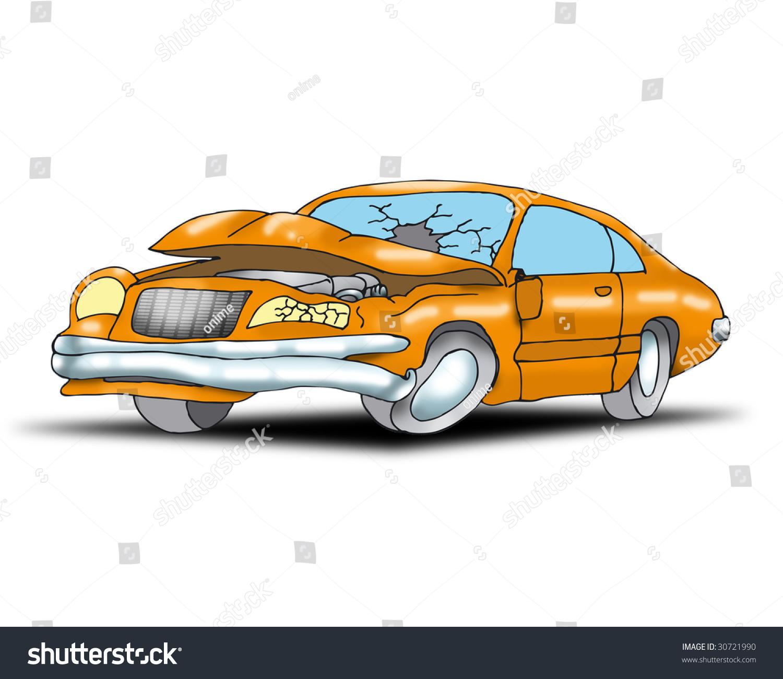 Car Destroyed Crash Stock Illustration 30721990 - Shutterstock