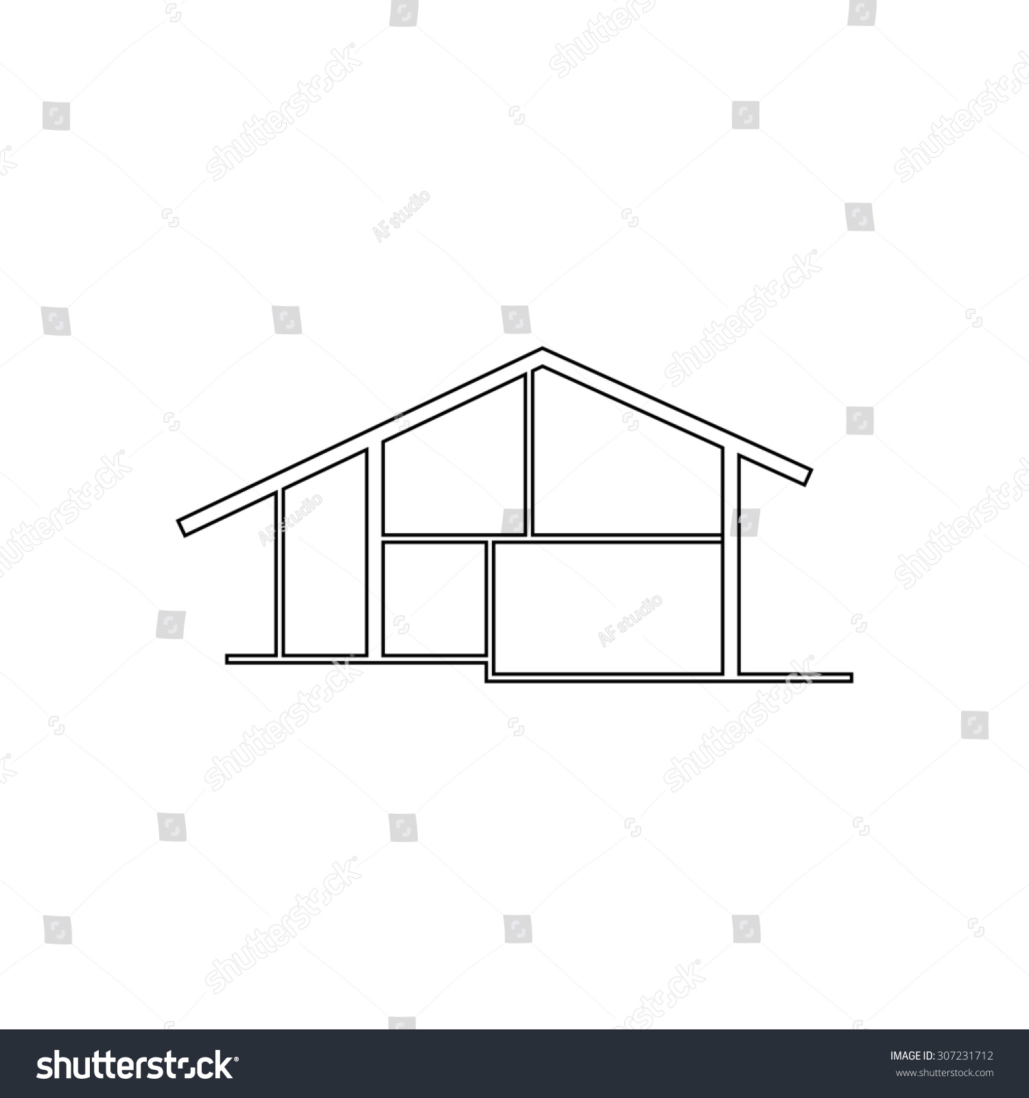 House outline picture - Modern House Outline Black Simple Symbol