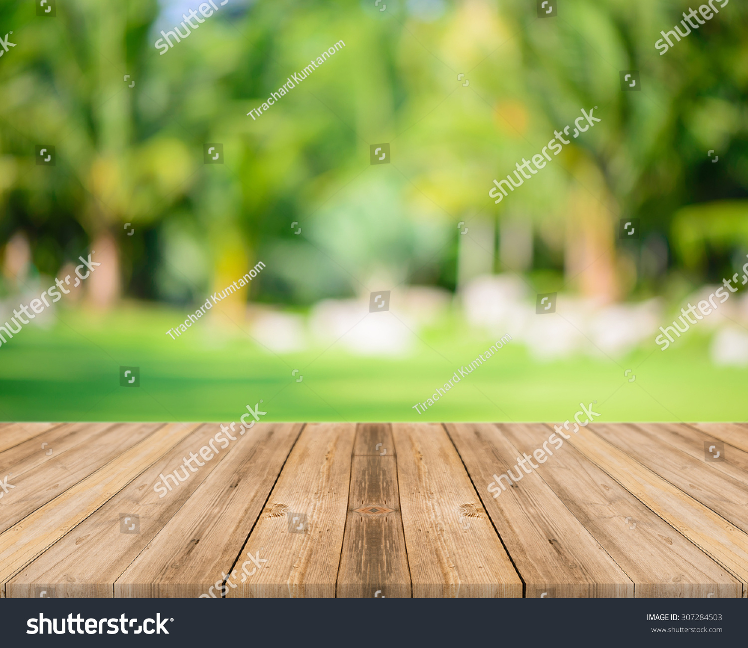 Royalty-free Wooden Board Empty Table In Front Of