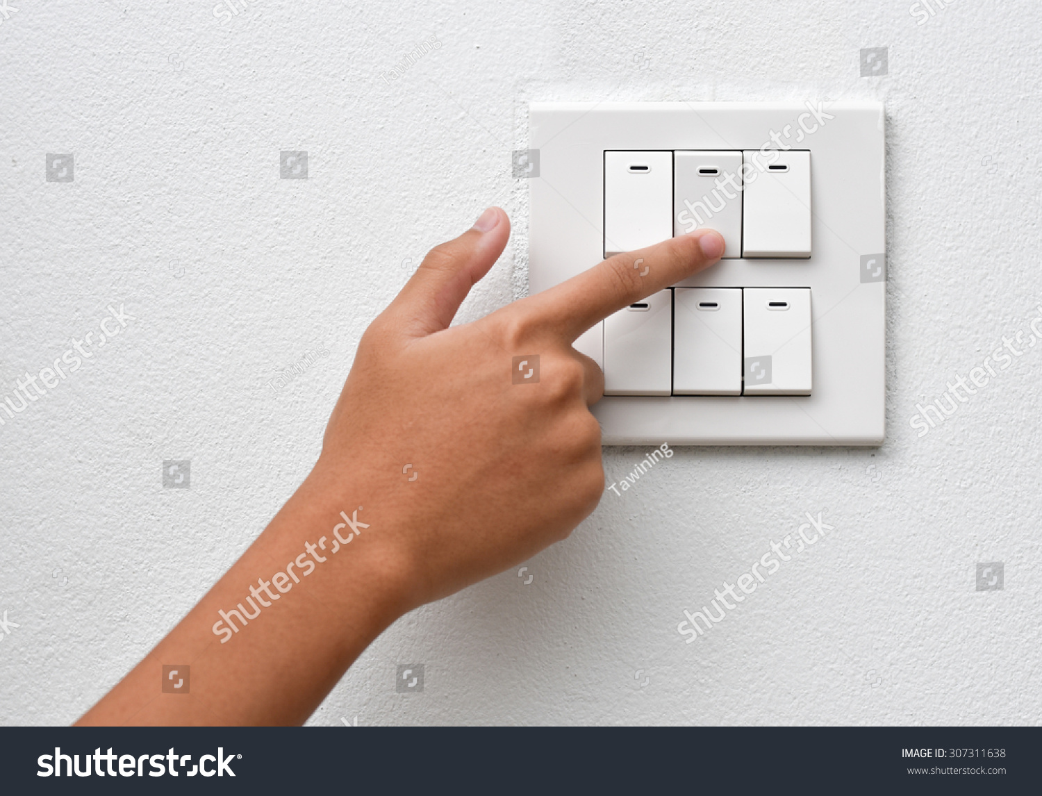 Finger Put Off Switch Save Energy Stock Photo (Royalty Free ...