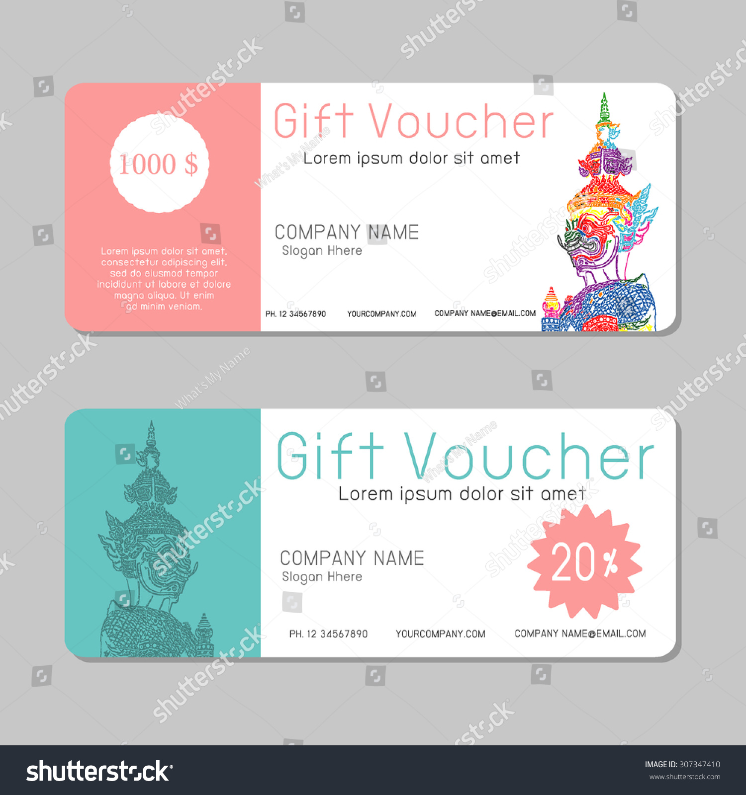 voucher template for word