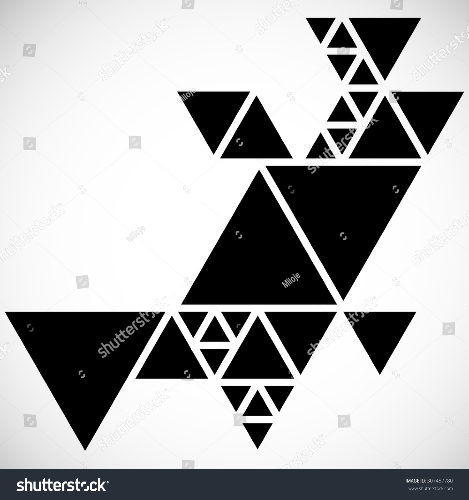 royalty free modern geometrical triangle design 307457780 stock